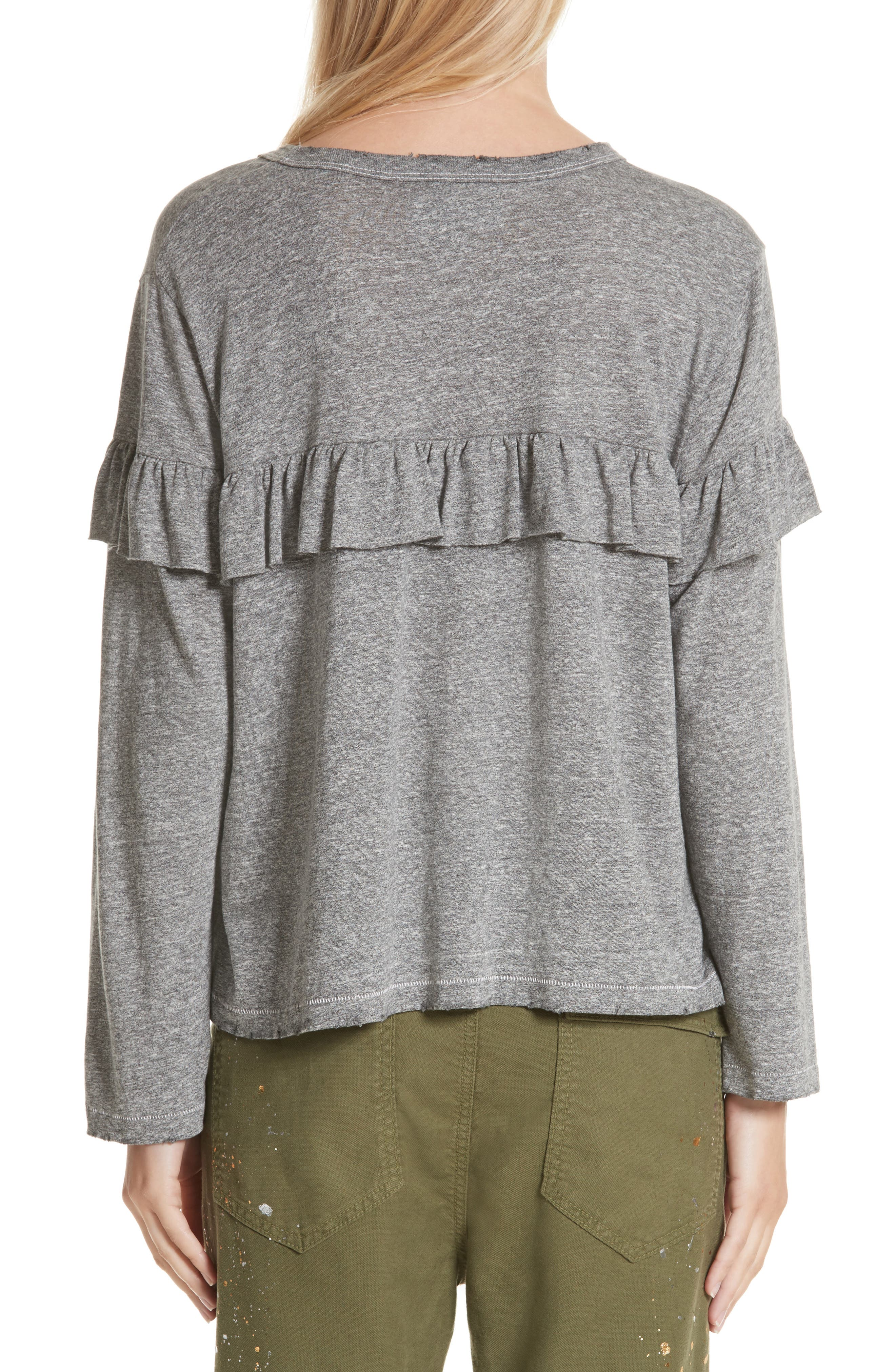 The Ruffle Yoke Tee,                             Alternate thumbnail 2, color,                             023