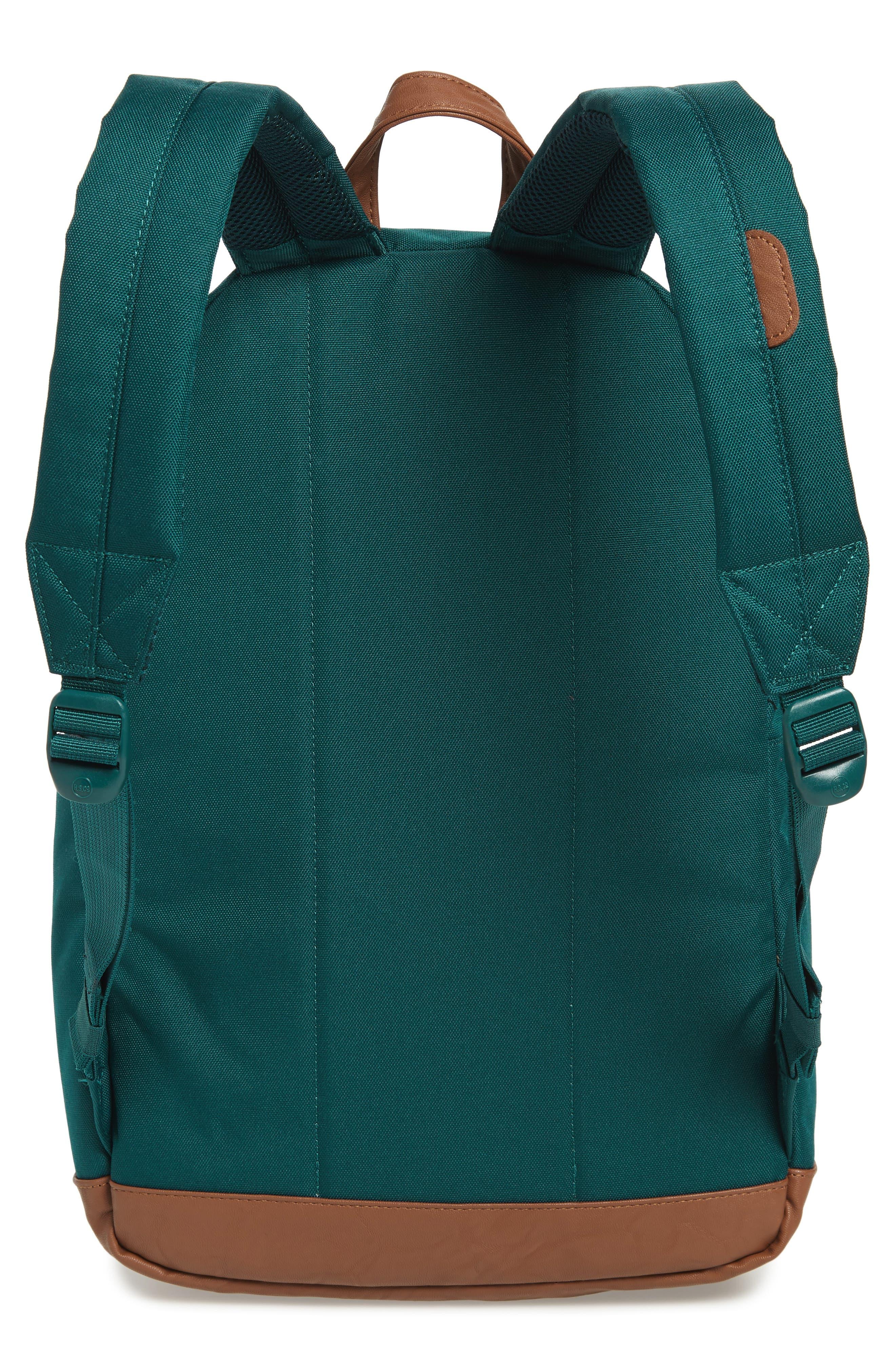 Pop Quiz Backpack,                             Alternate thumbnail 3, color,                             DEEP TEAL/ TAN