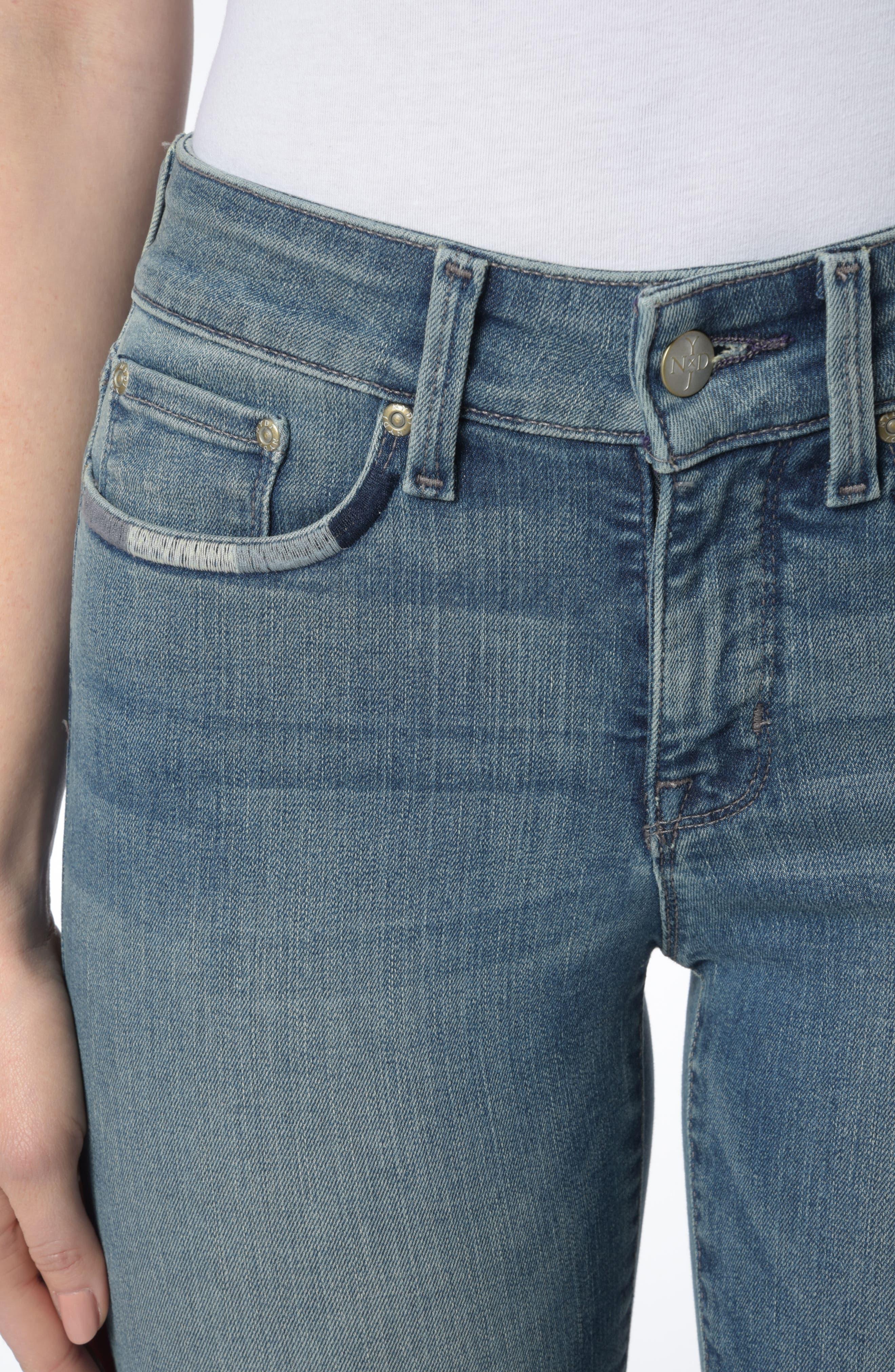 Marilyn Stretch Straight Leg Jeans,                             Alternate thumbnail 4, color,                             425