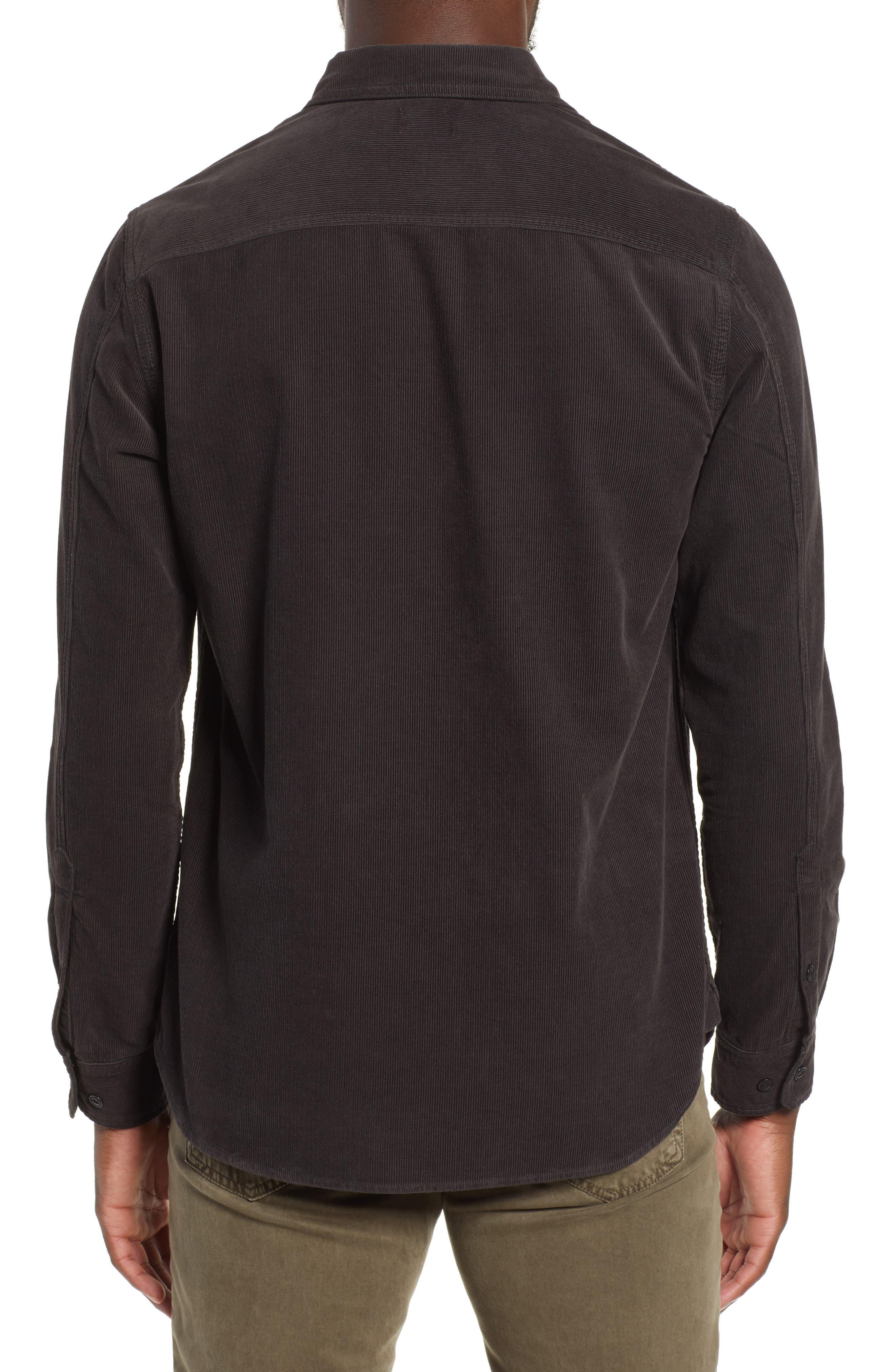 Benning Slim Fit Utility Shirt,                             Alternate thumbnail 3, color,                             GRAY STONE