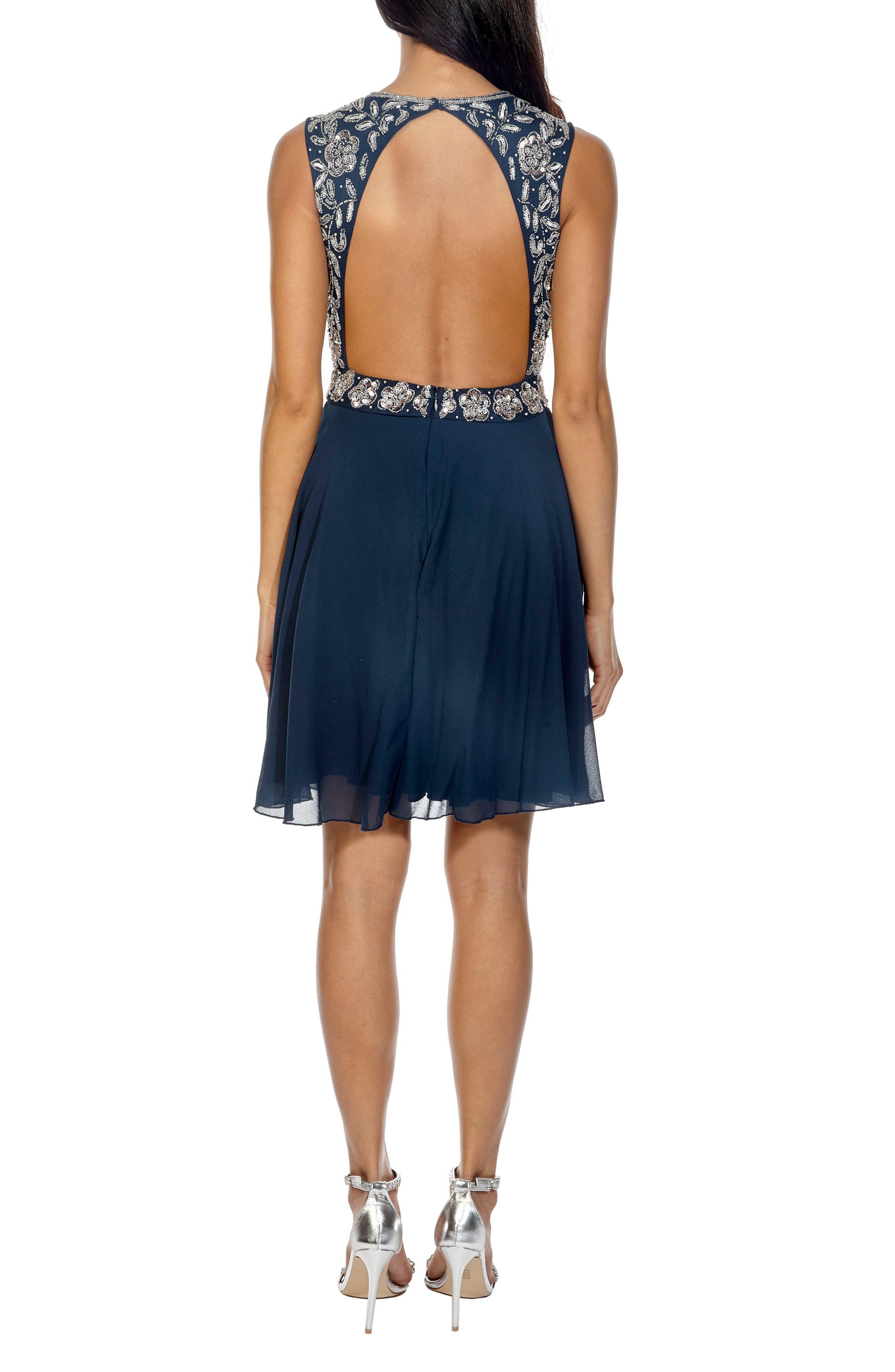 Memphis Fit & Flare Dress,                             Alternate thumbnail 2, color,                             NAVY