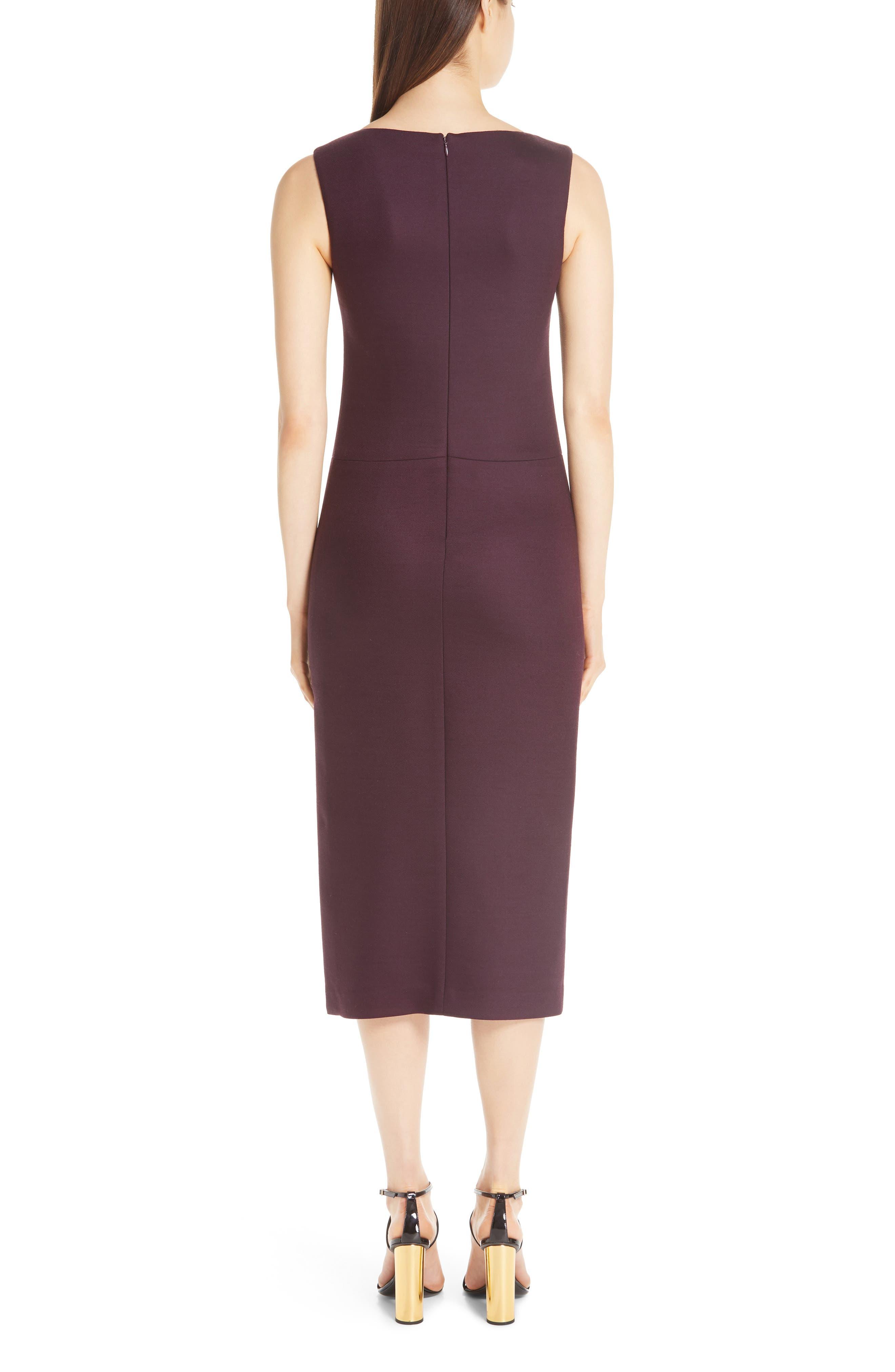 ADAM LIPPES,                             Double Face Wool Sheath Dress,                             Alternate thumbnail 2, color,                             BURGUNDY/ PINK