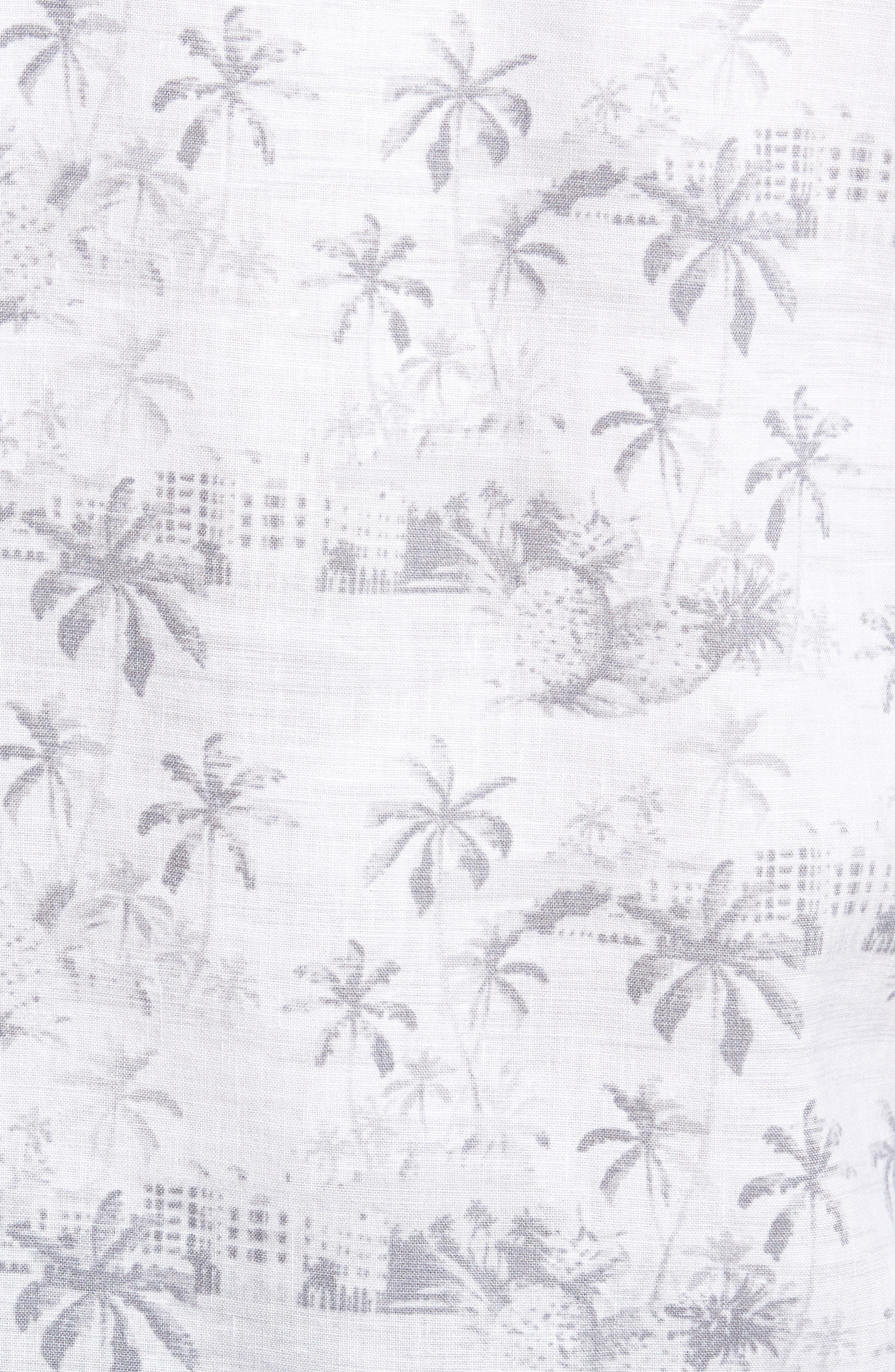 Tropical Toile Sport Shirt,                             Alternate thumbnail 5, color,                             050