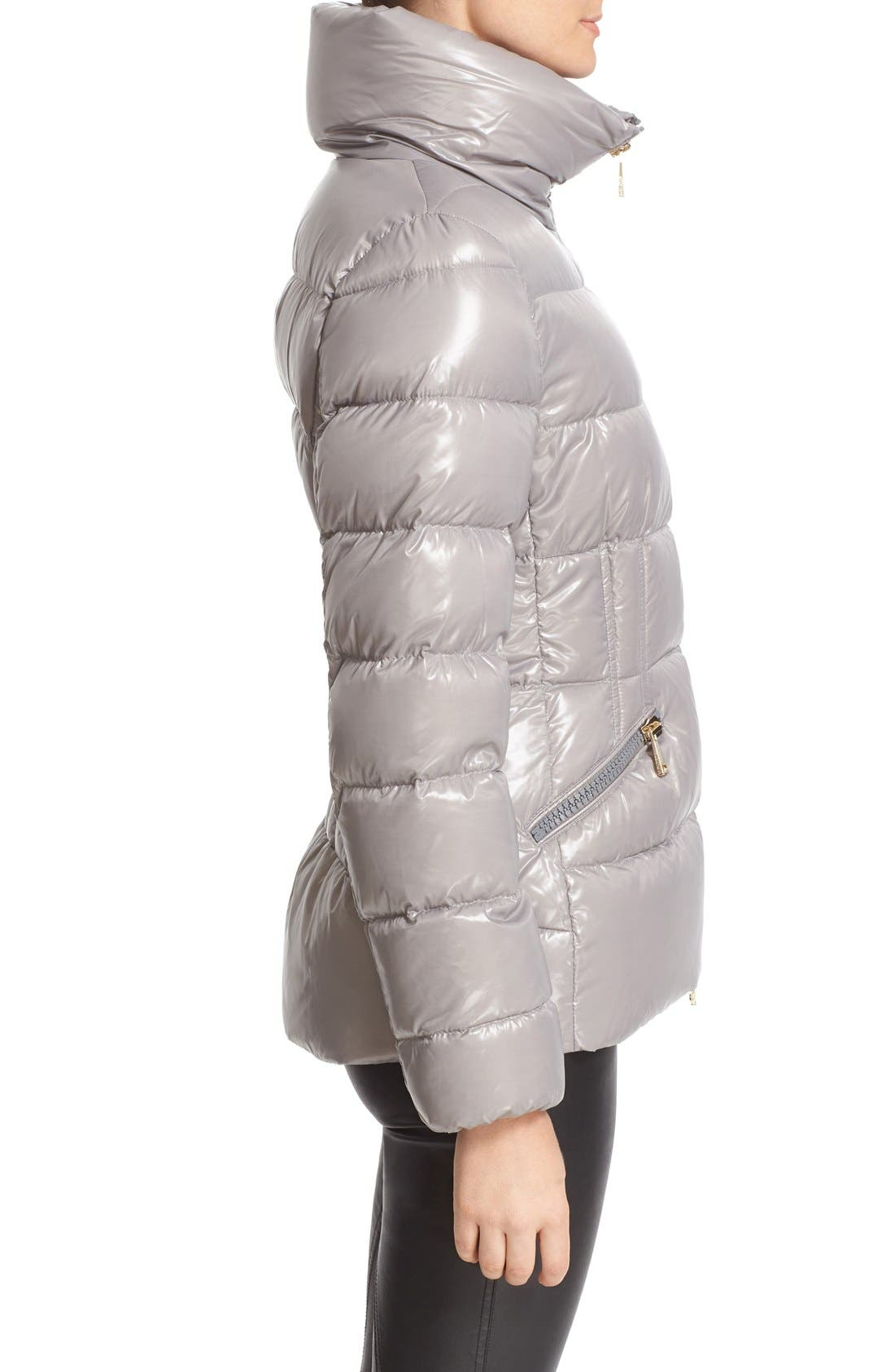 'Daphne' Water Resistant Short Shiny Nylon Jacket,                             Alternate thumbnail 6, color,                             024
