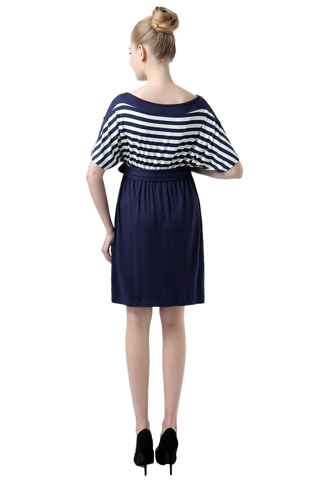 'Willow' Stripe Maternity Dress,                             Alternate thumbnail 2, color,                             419