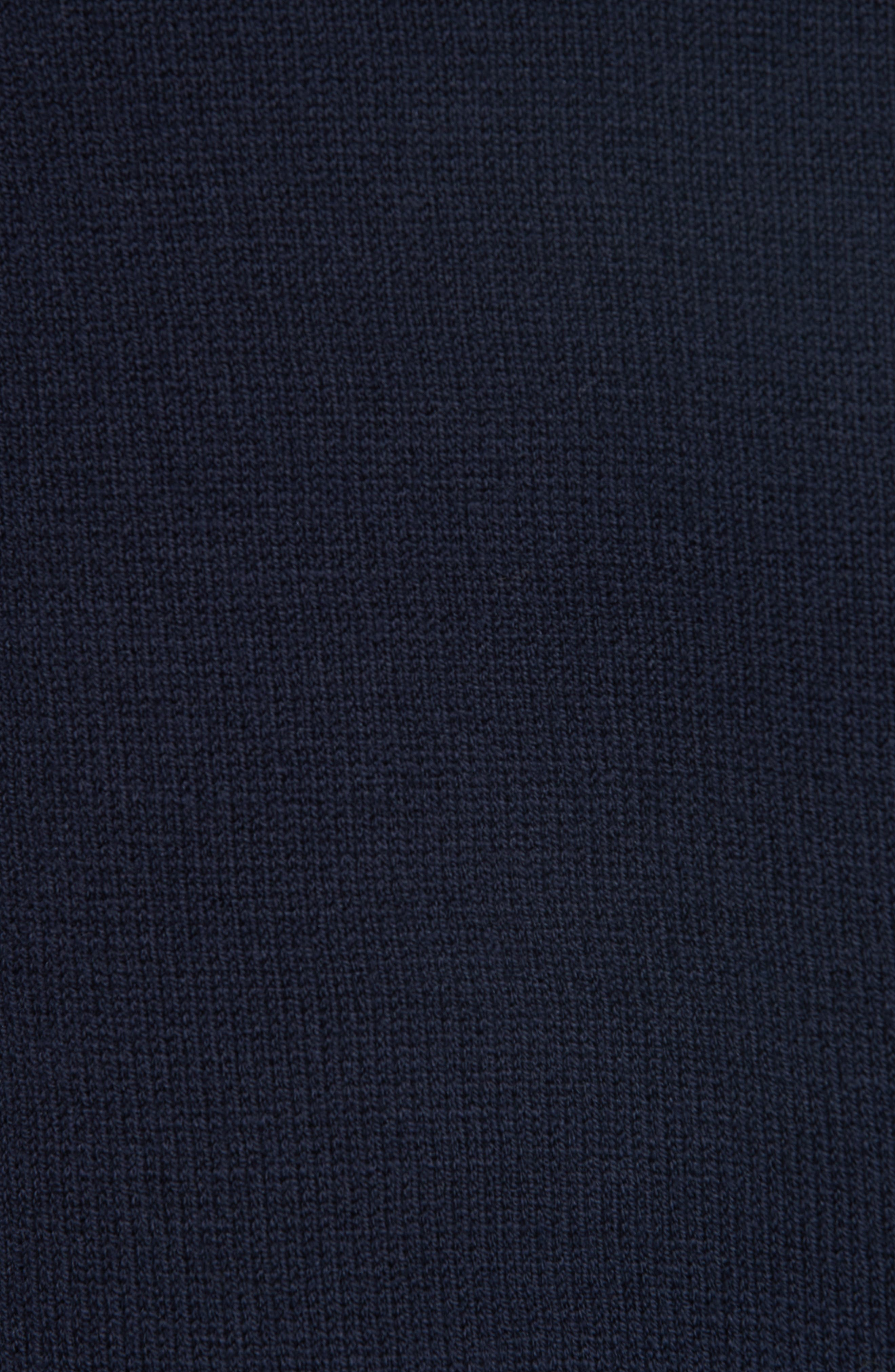 Mikhos Half Zip Sweater,                             Alternate thumbnail 5, color,                             NAVY