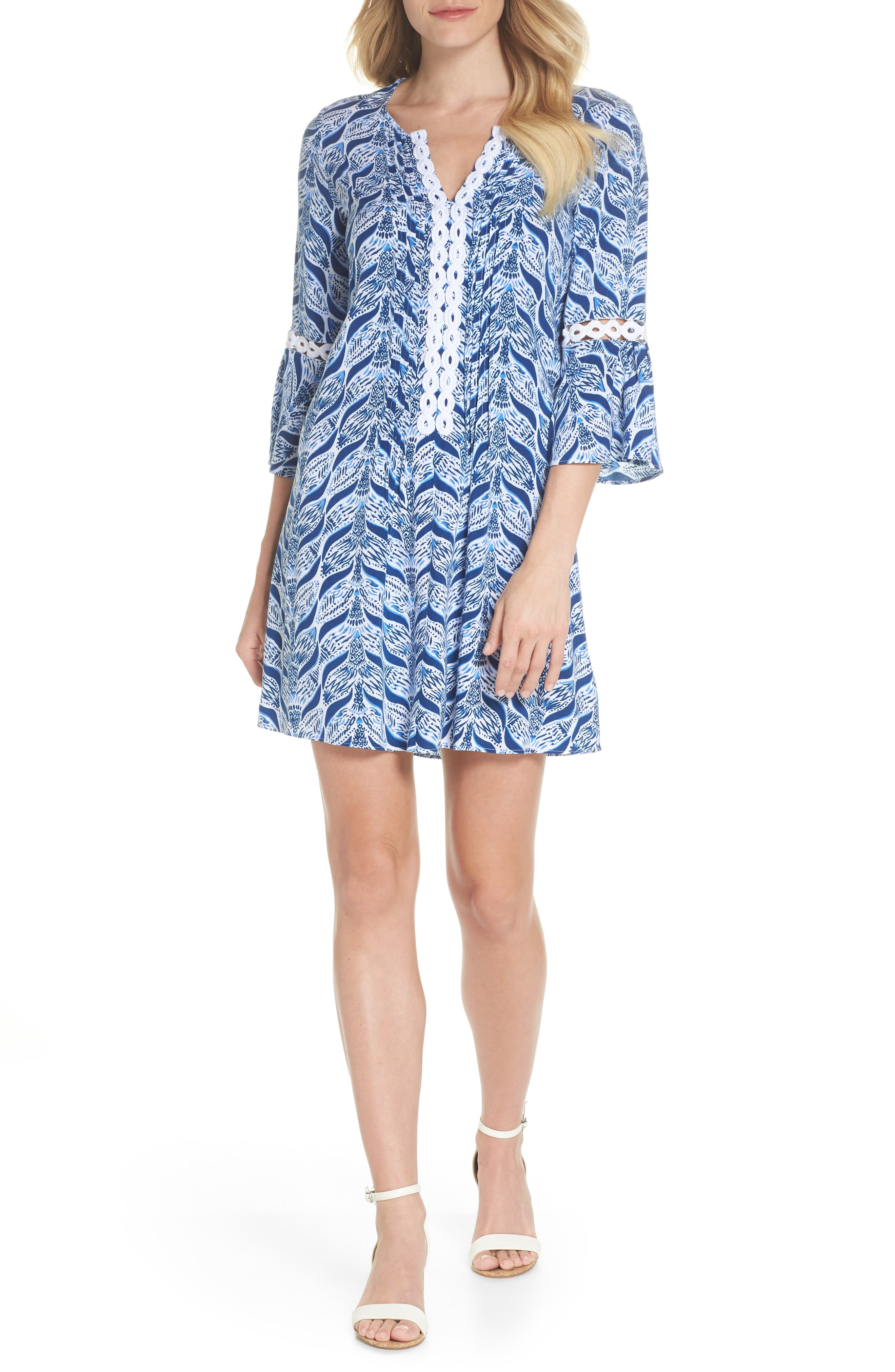 Hollie Tunic Dress,                         Main,                         color, RESORT WHITE A MERMAIDS TAIL