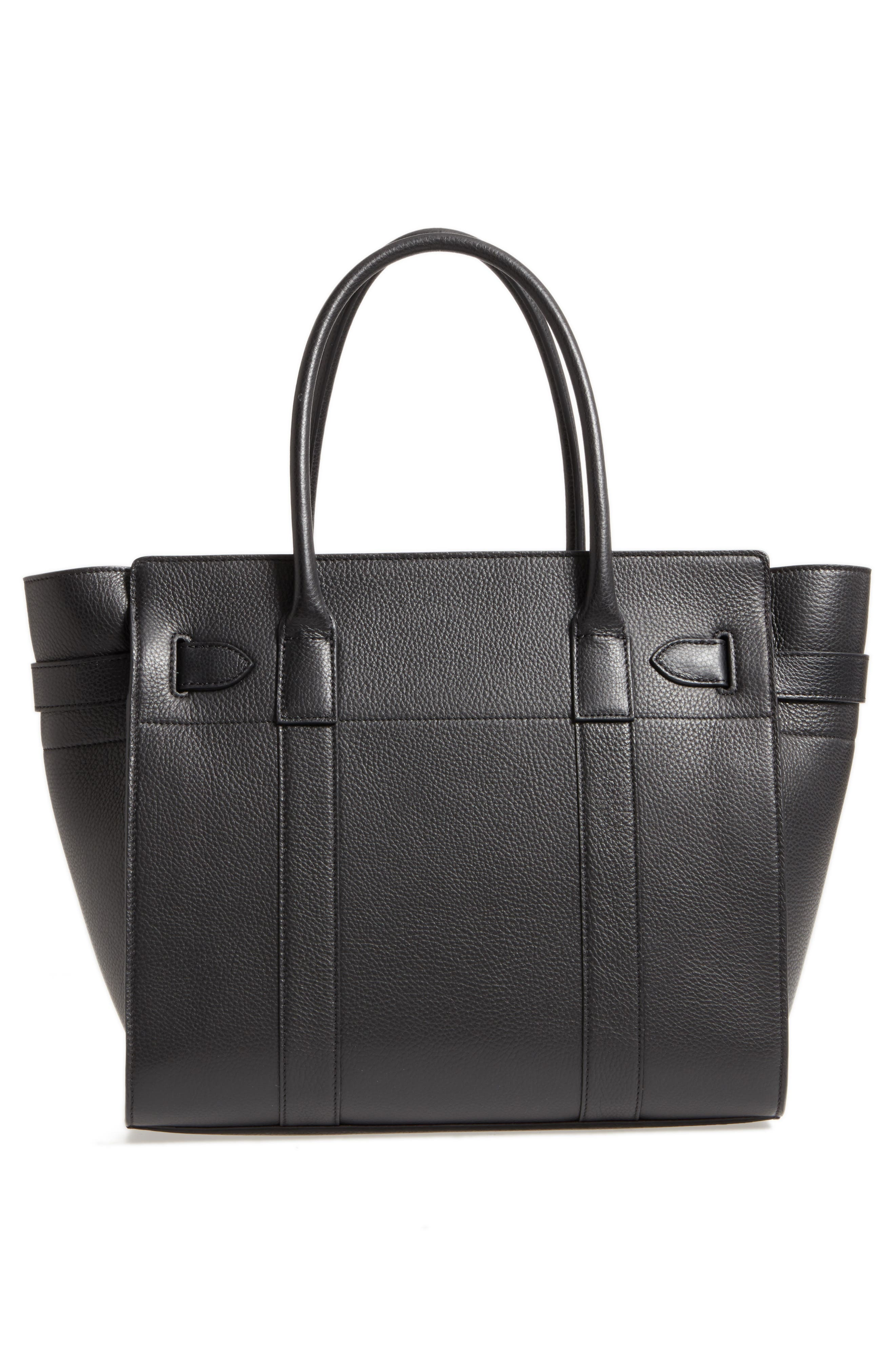 Large Bayswater Leather Tote,                             Alternate thumbnail 3, color,                             010