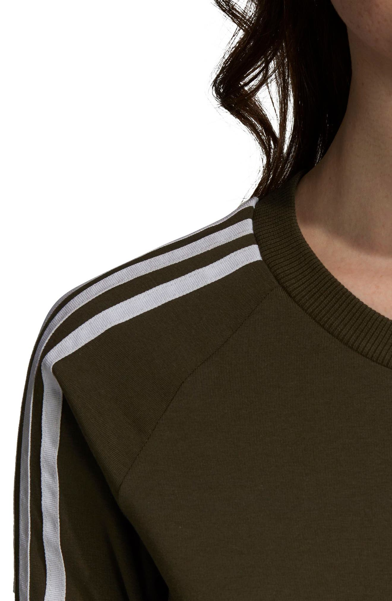 adidas 3-Stripes Dress,                             Alternate thumbnail 6, color,                             NIGHT CARGO