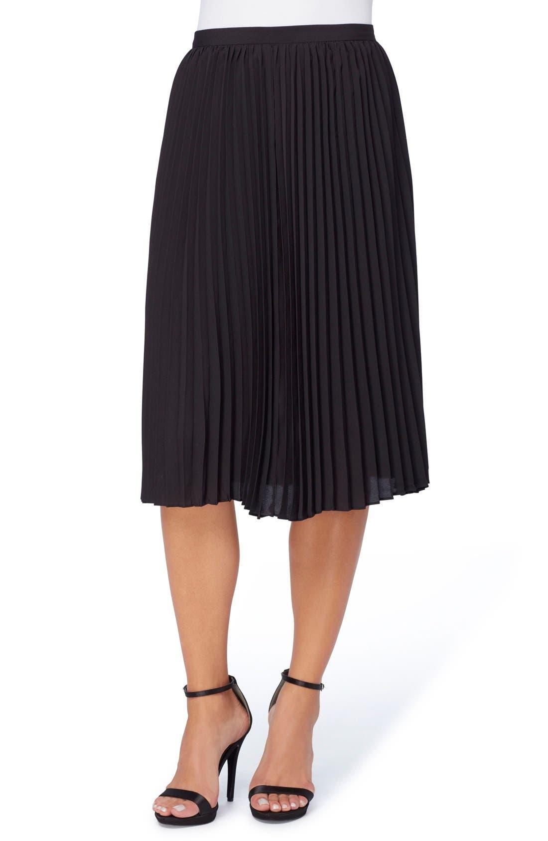 Sylvia Pleated Chiffon Skirt,                             Main thumbnail 1, color,