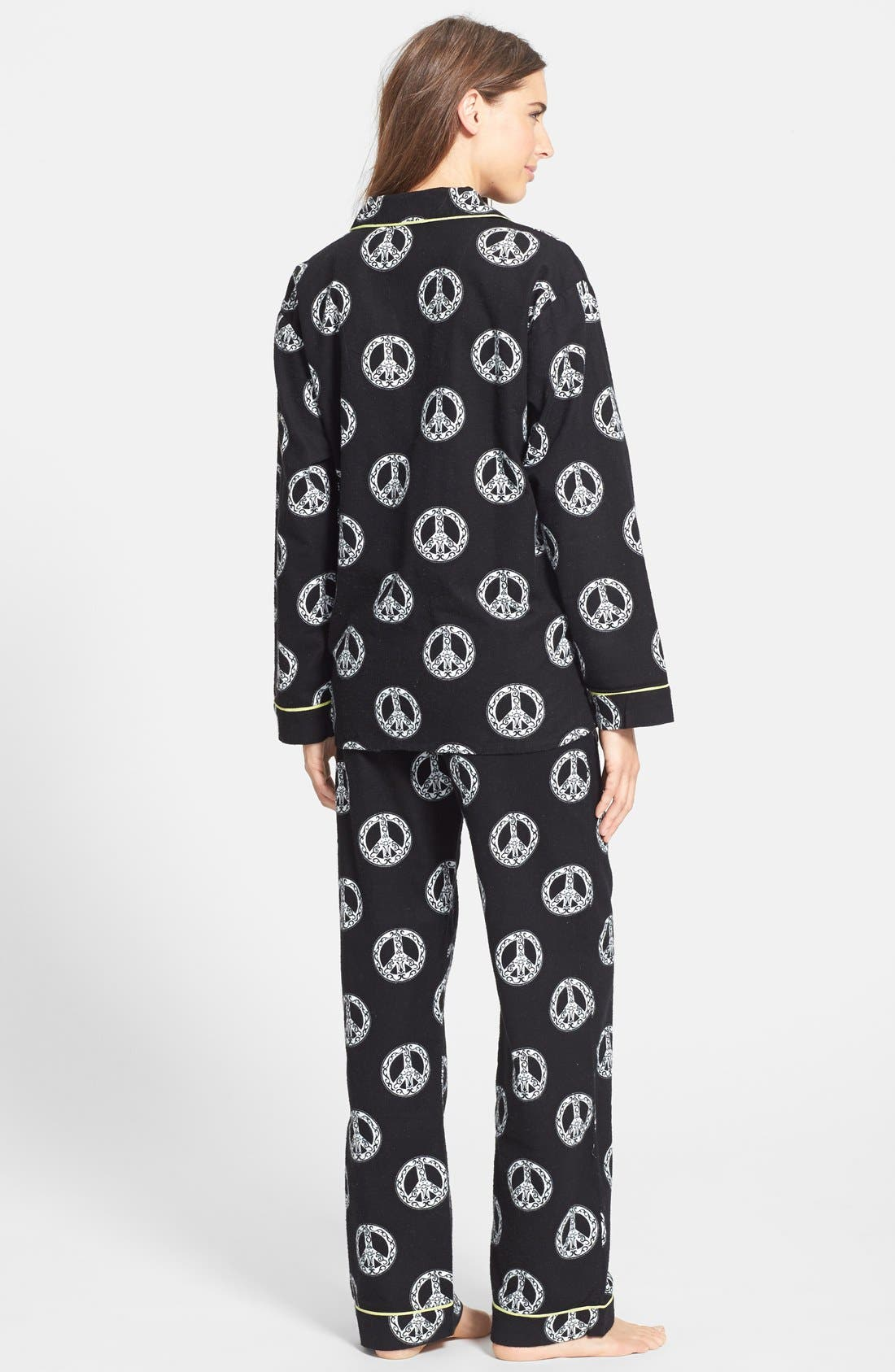 'Fall into Flannel' Pajamas,                             Alternate thumbnail 3, color,                             001