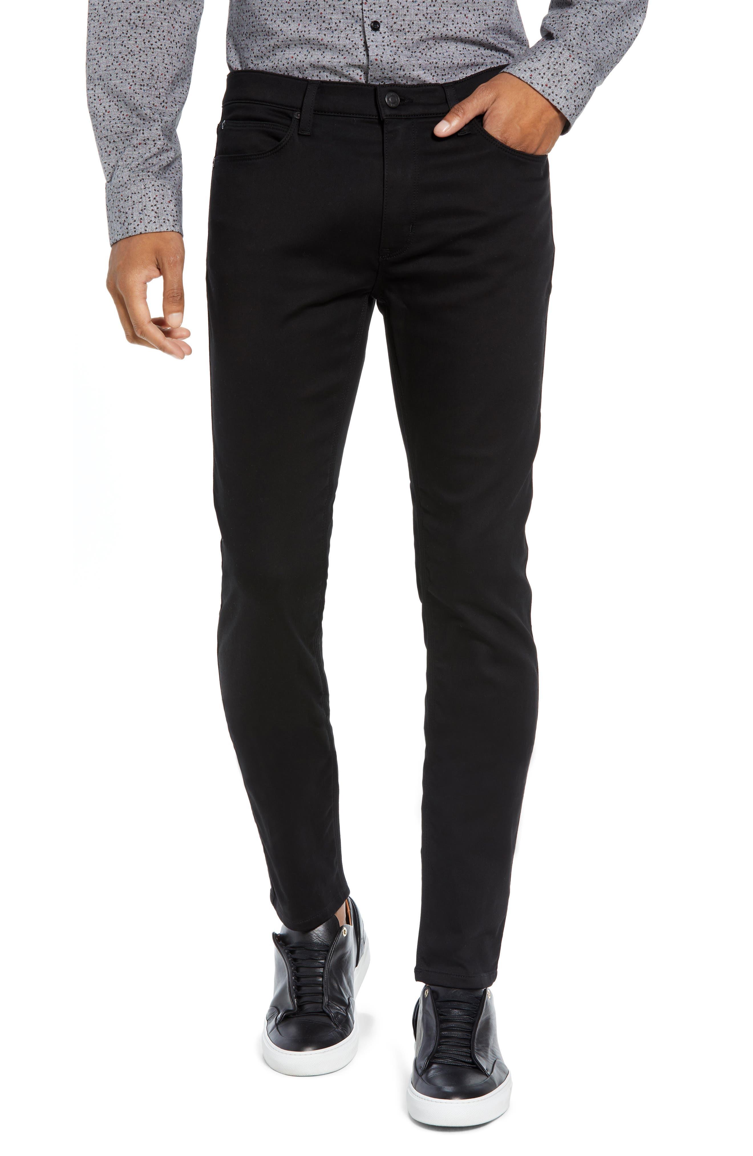 734 Skinny Fit Jeans,                             Main thumbnail 1, color,                             BLACK