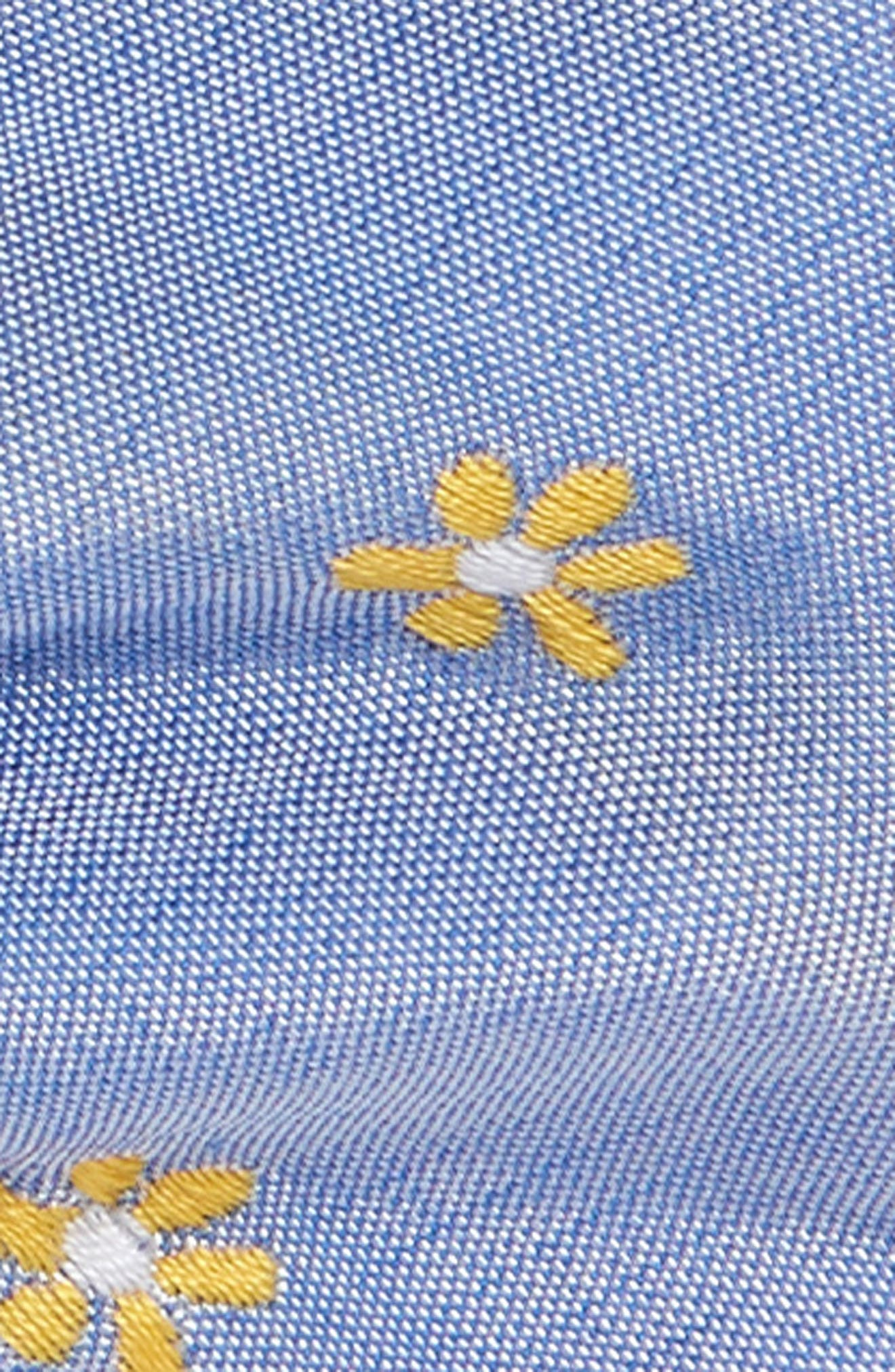 Cumberland Floral Cotton & Silk Bow Tie,                             Alternate thumbnail 2, color,                             YELLOW/ BLUE