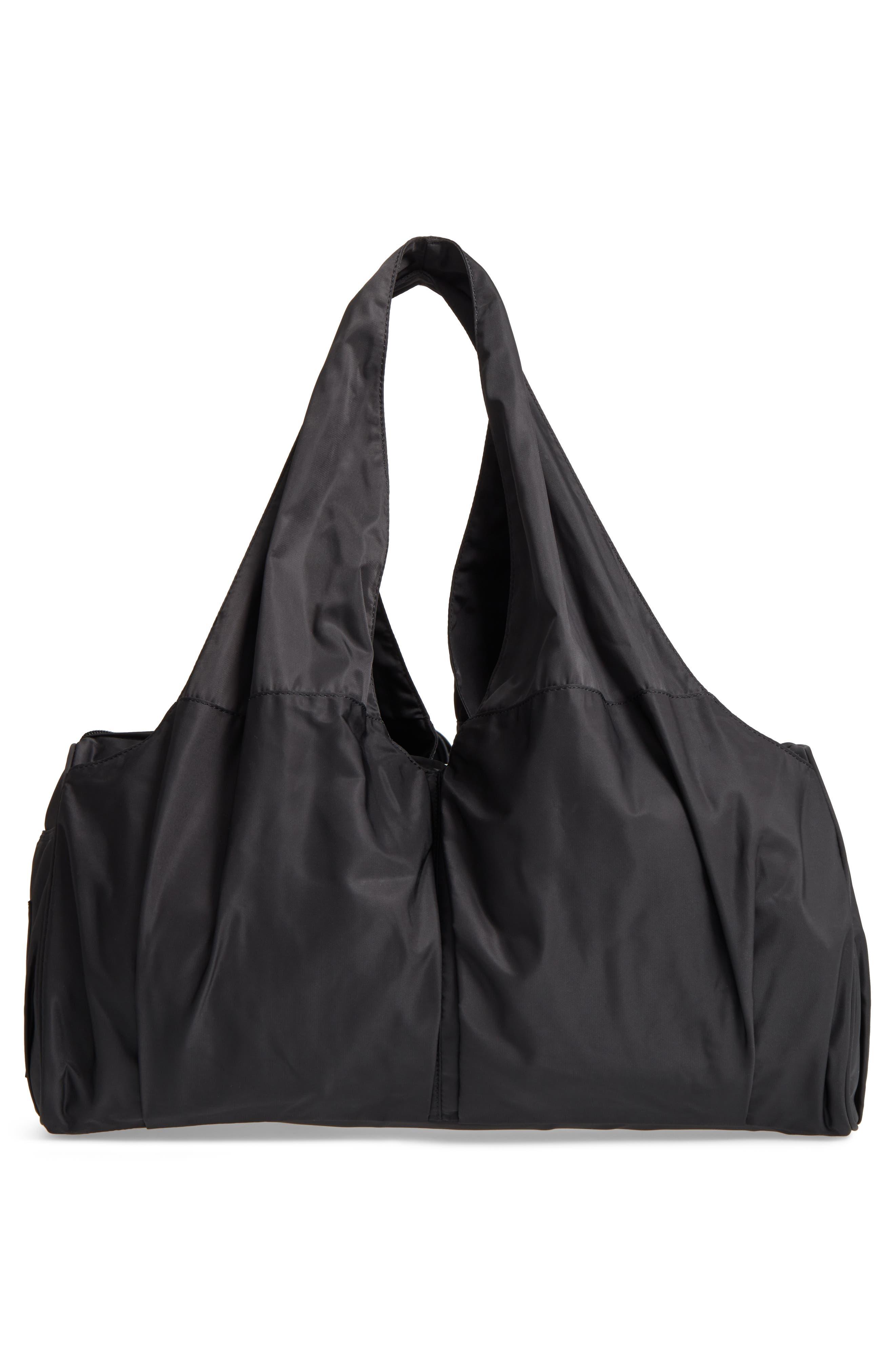 Nylon Duffel Bag,                             Alternate thumbnail 3, color,                             001