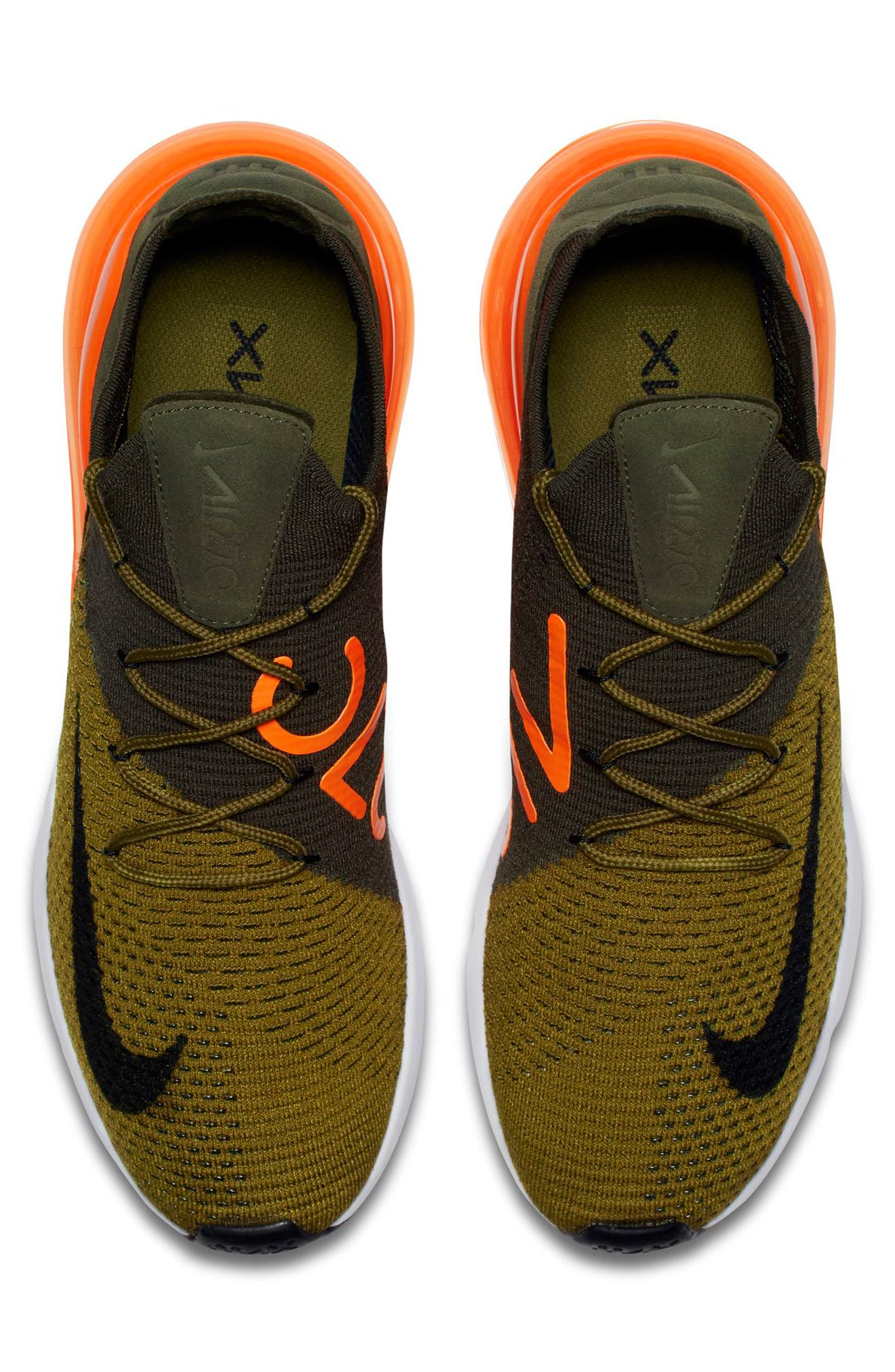 Air Max 270 Flyknit Sneaker,                             Alternate thumbnail 18, color,