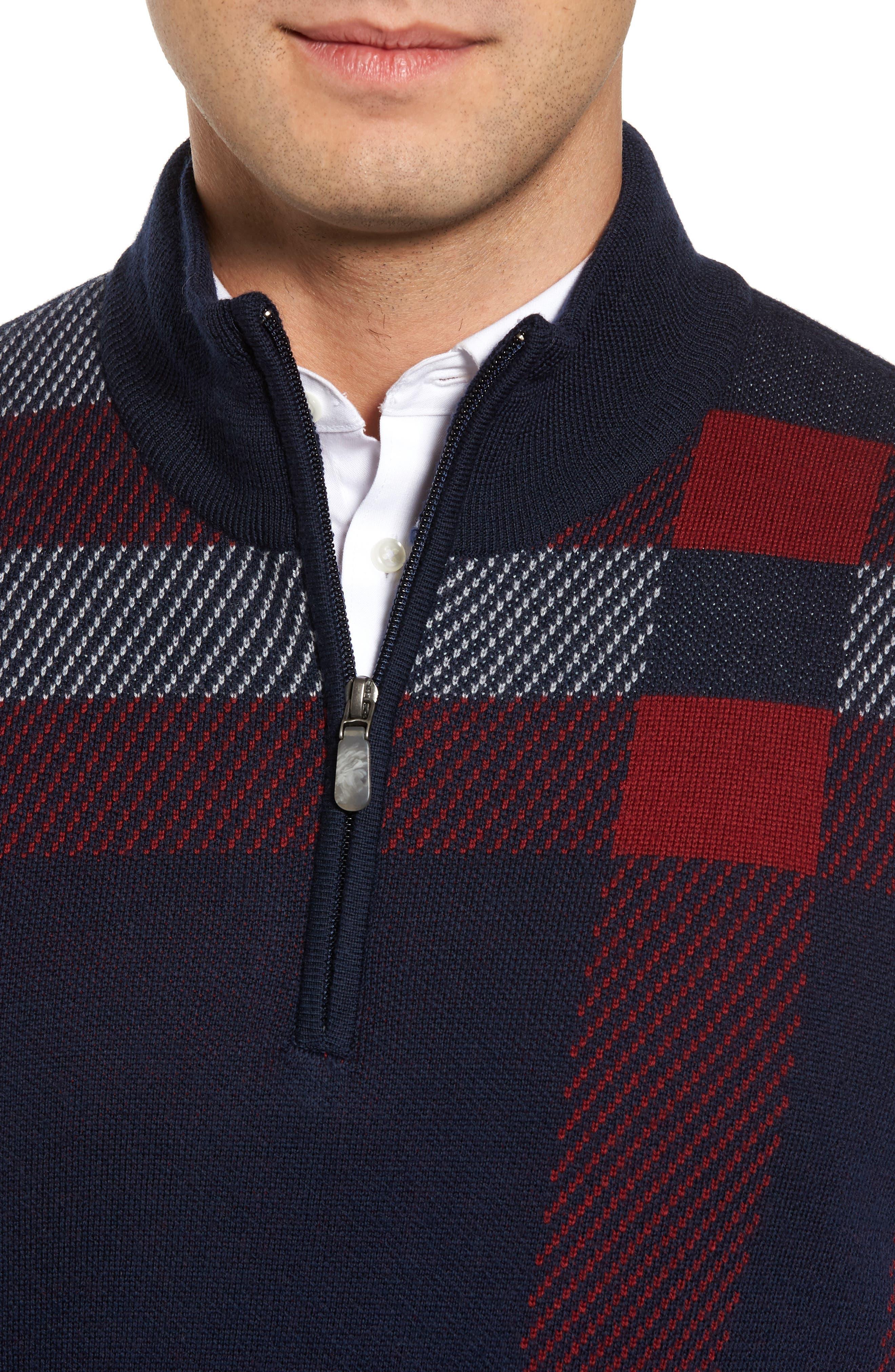 Oversize Plaid Wool Vest,                             Alternate thumbnail 8, color,