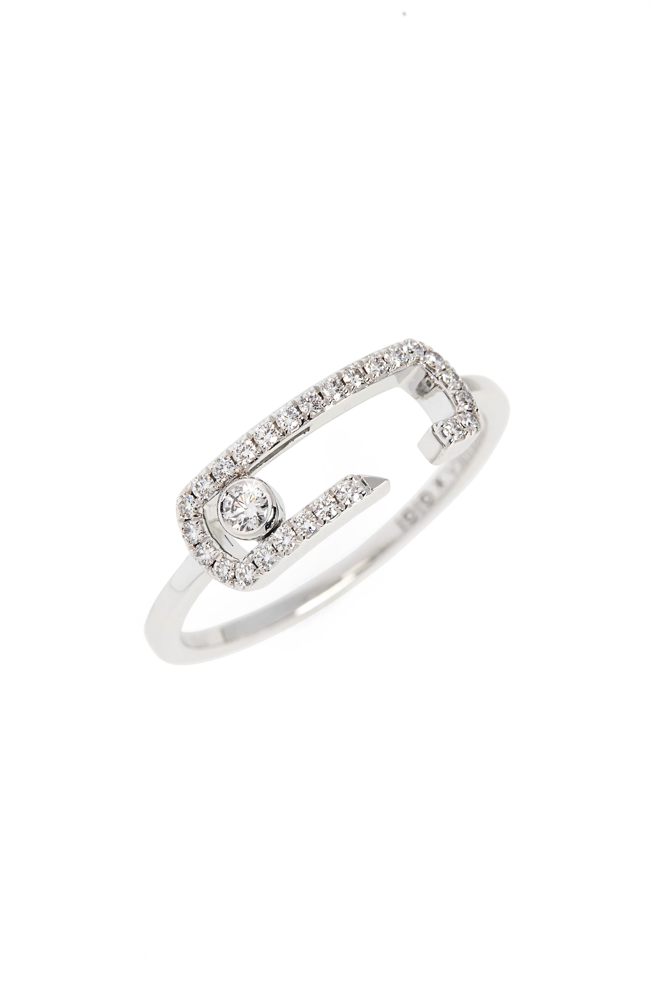 Move Addiction by Gigi Hadid Diamond Pavé Ring,                         Main,                         color, WHITE GOLD