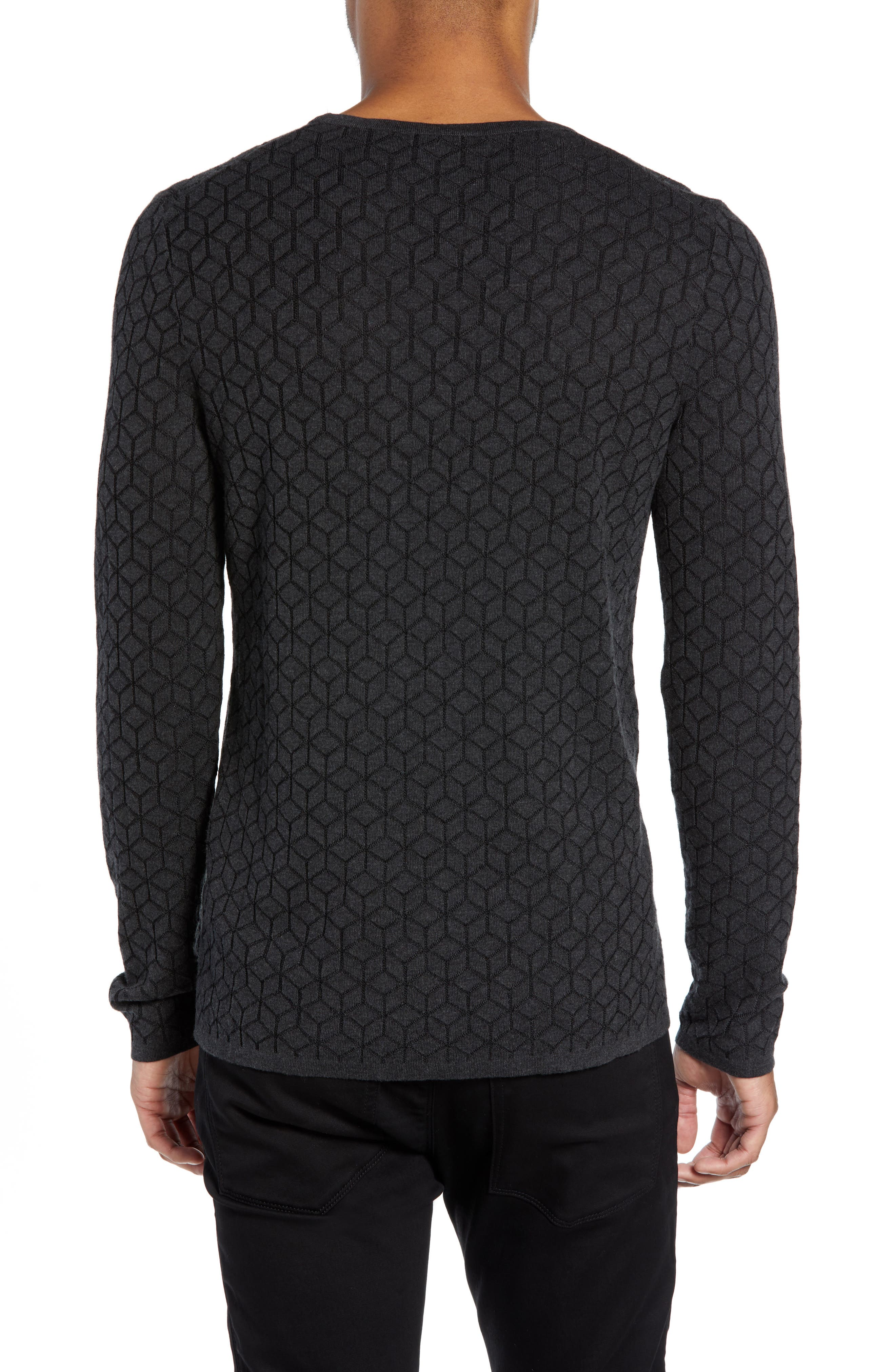 Scuber Slim Fit Diamond Sweater,                             Alternate thumbnail 2, color,                             GREY