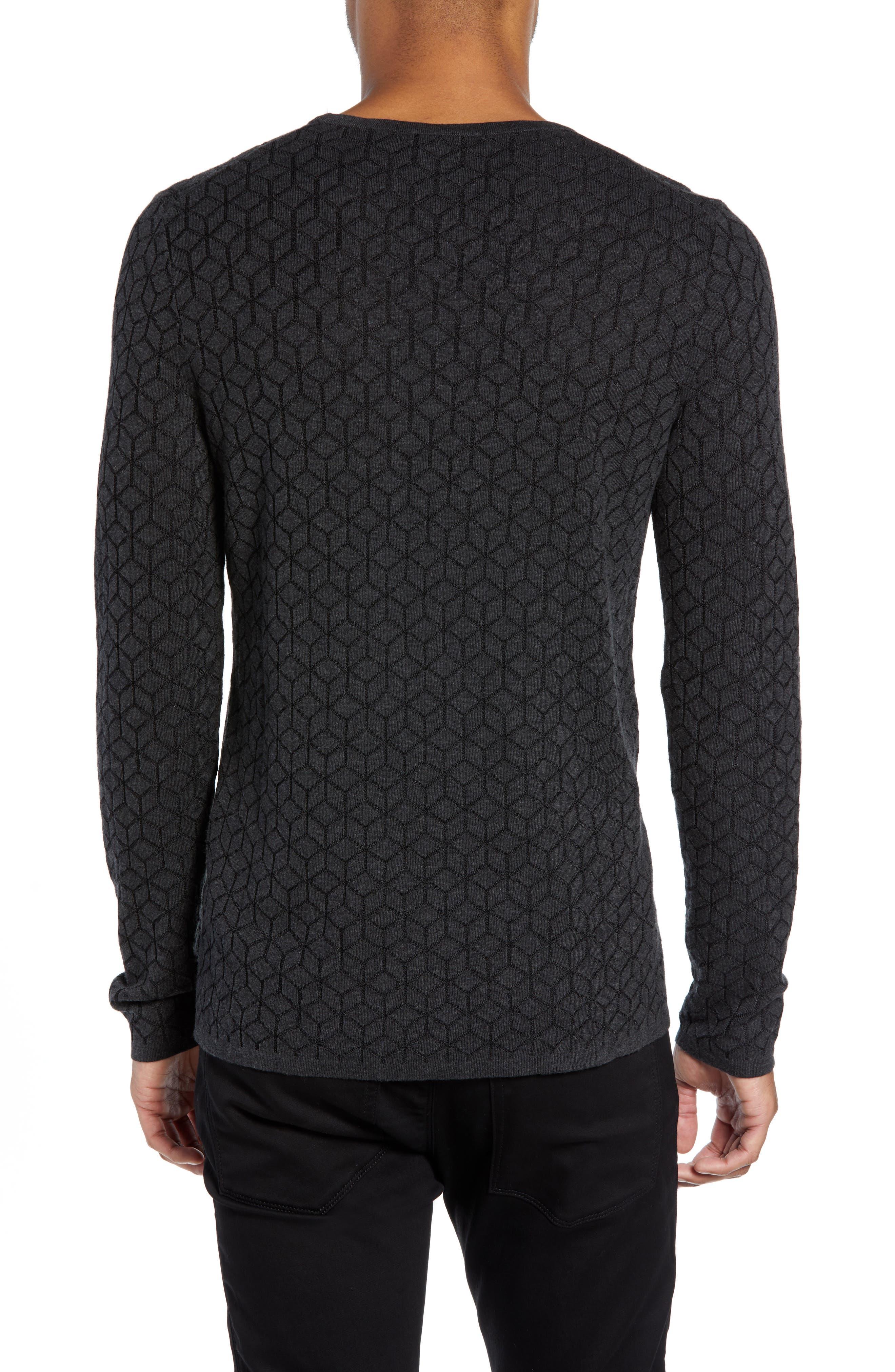 Scuber Slim Fit Diamond Sweater,                             Alternate thumbnail 2, color,                             GREY