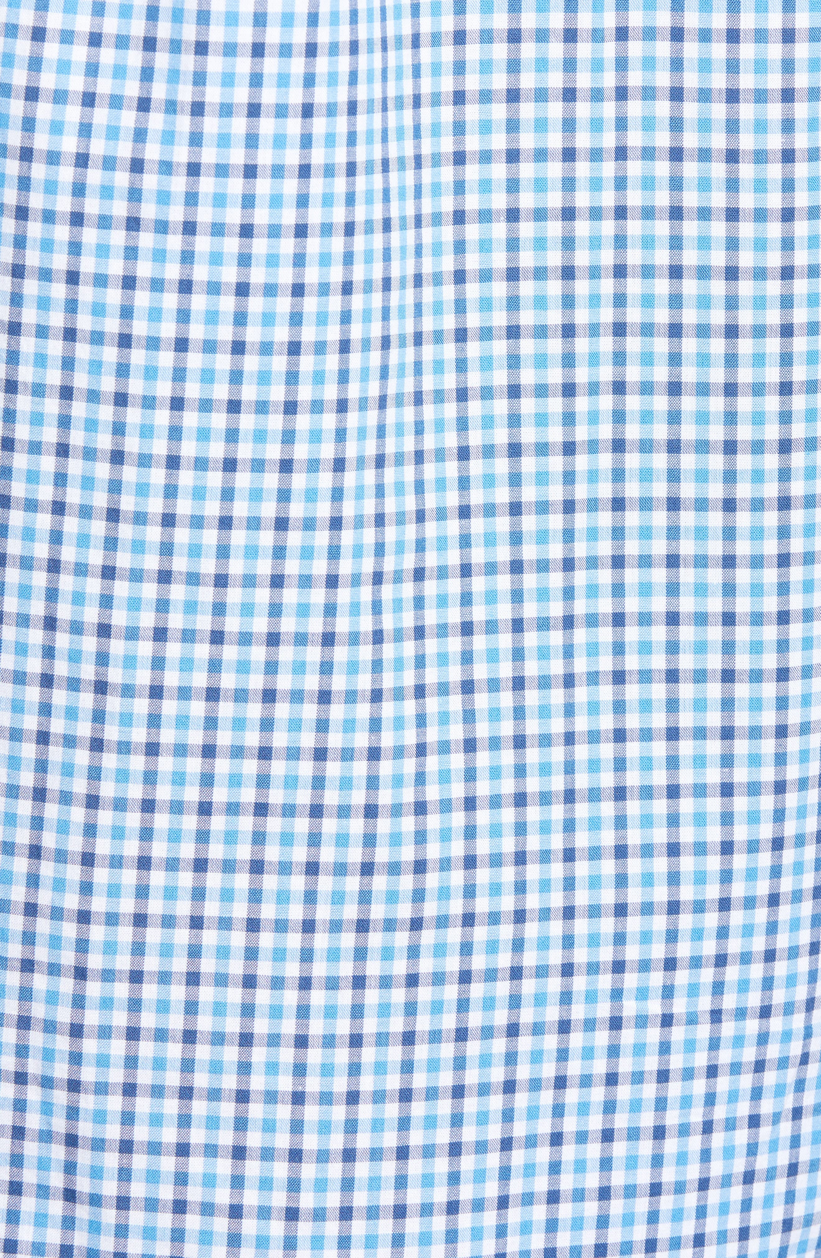 Point Gammon Slim Fit Gingham Sport Shirt,                             Alternate thumbnail 5, color,                             461