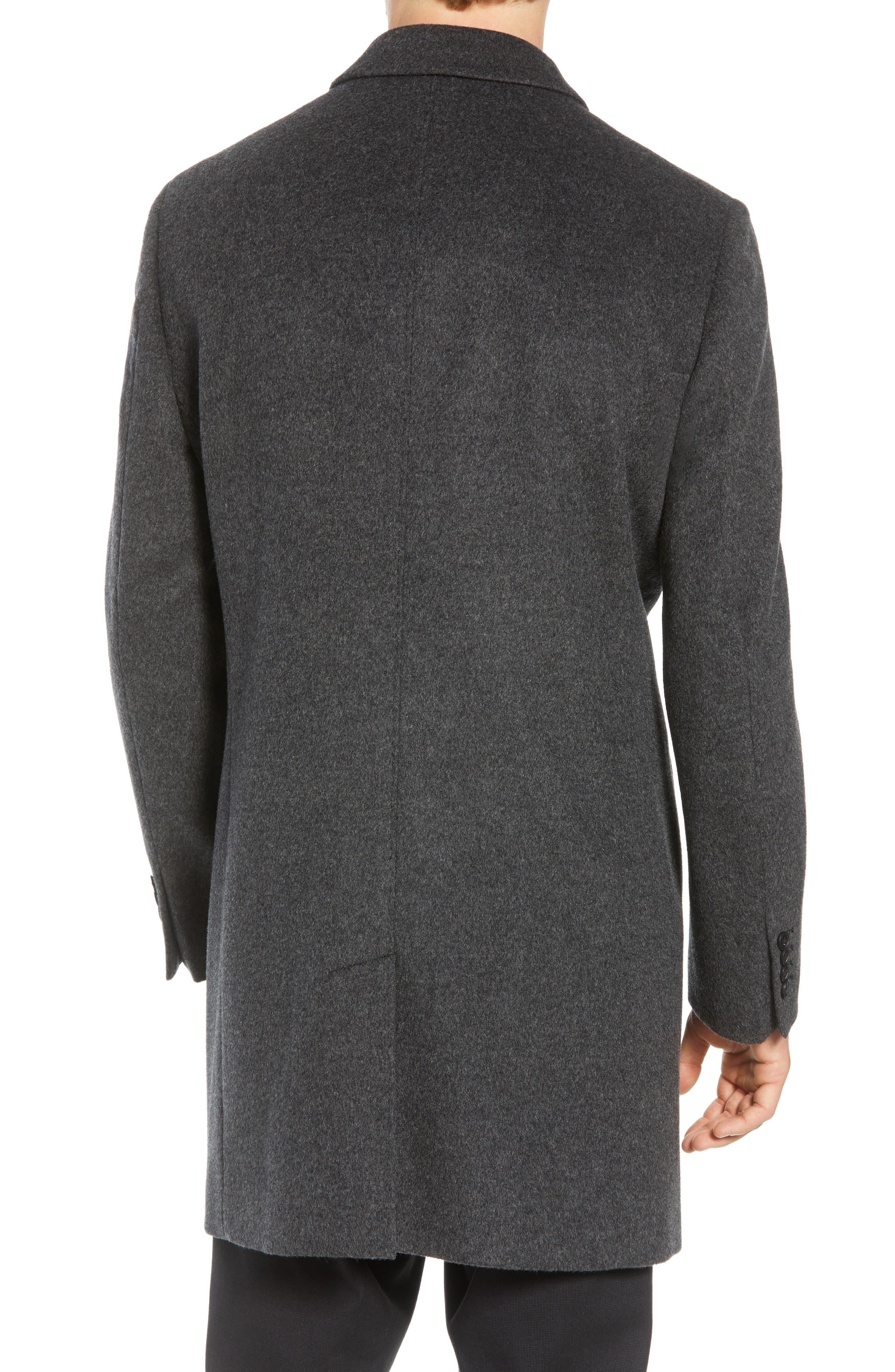 Mason Wool & Cashmere Overcoat,                             Alternate thumbnail 2, color,                             CHARCOAL
