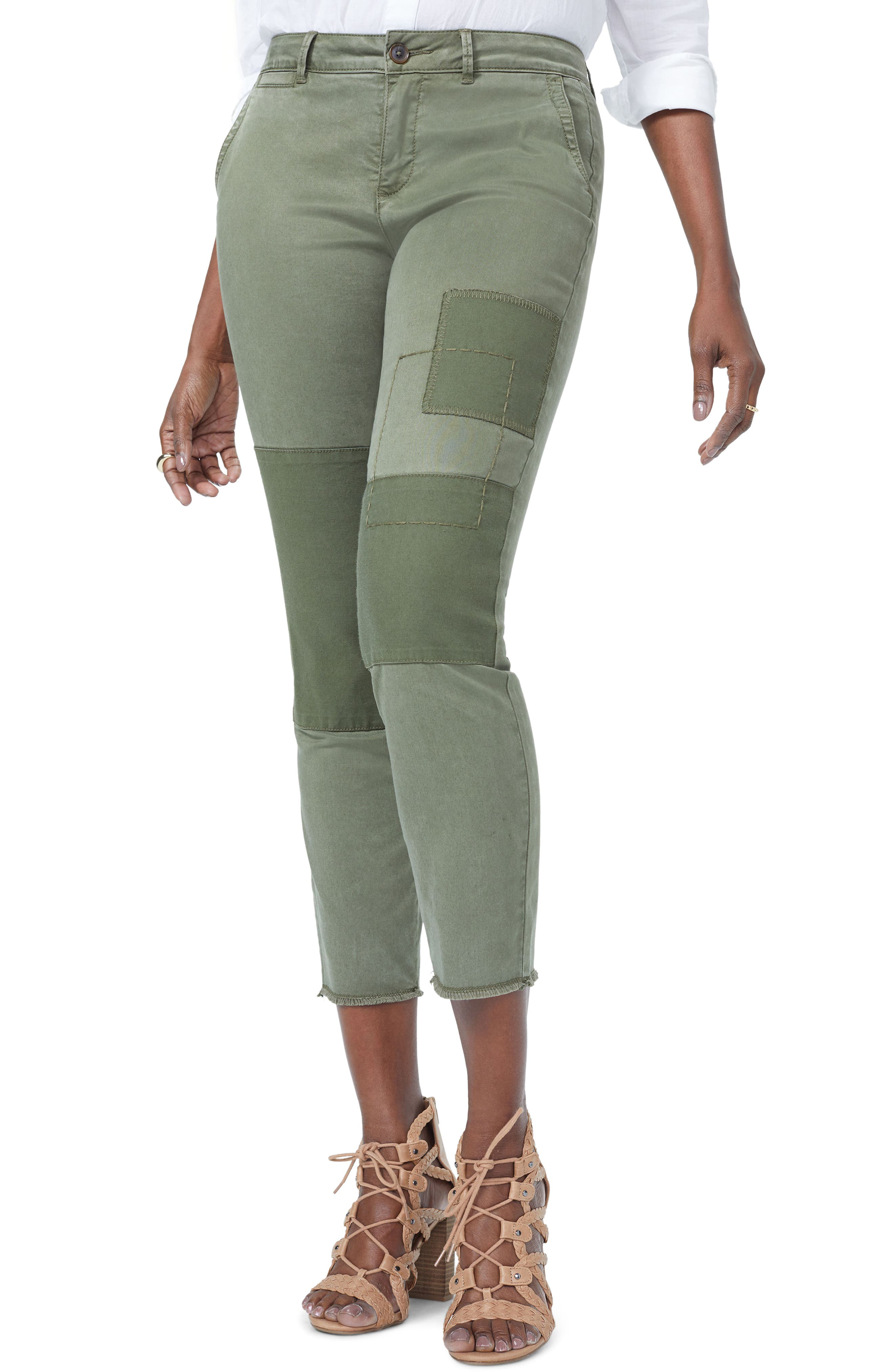 Reverse Patch Skinny Chino Pants,                             Main thumbnail 1, color,                             OLIVE