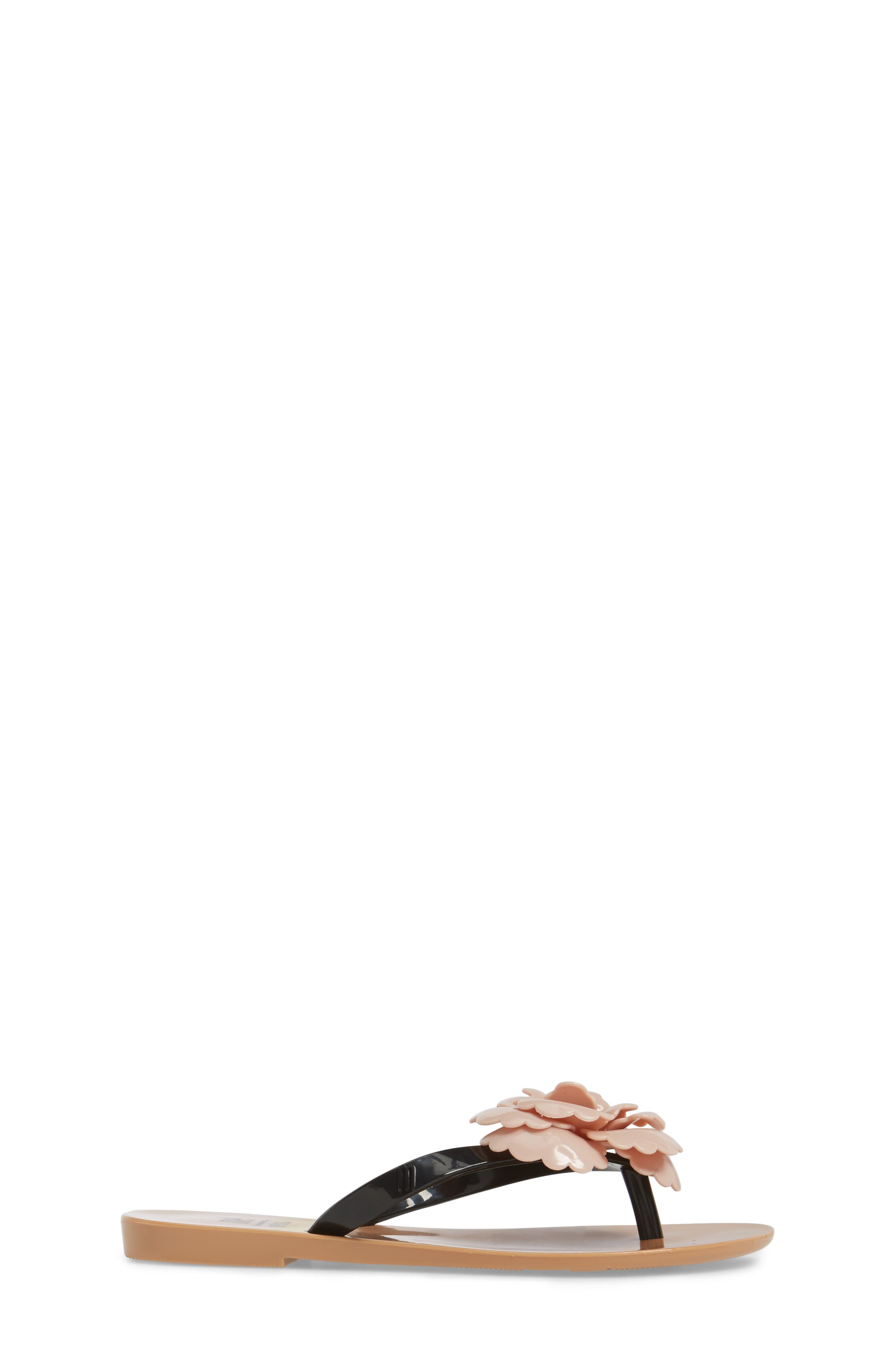 Harmonic Flower Flip Flop,                             Alternate thumbnail 3, color,                             650