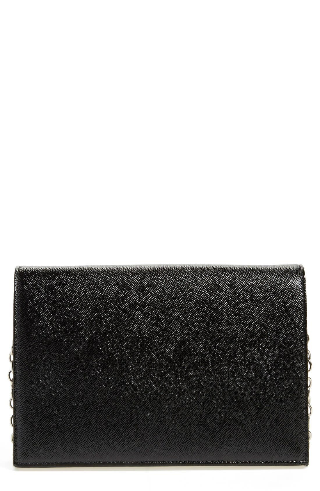 HALOGEN<SUP>®</SUP>,                             'Bar' Leather Crossbody Bag,                             Main thumbnail 1, color,                             001
