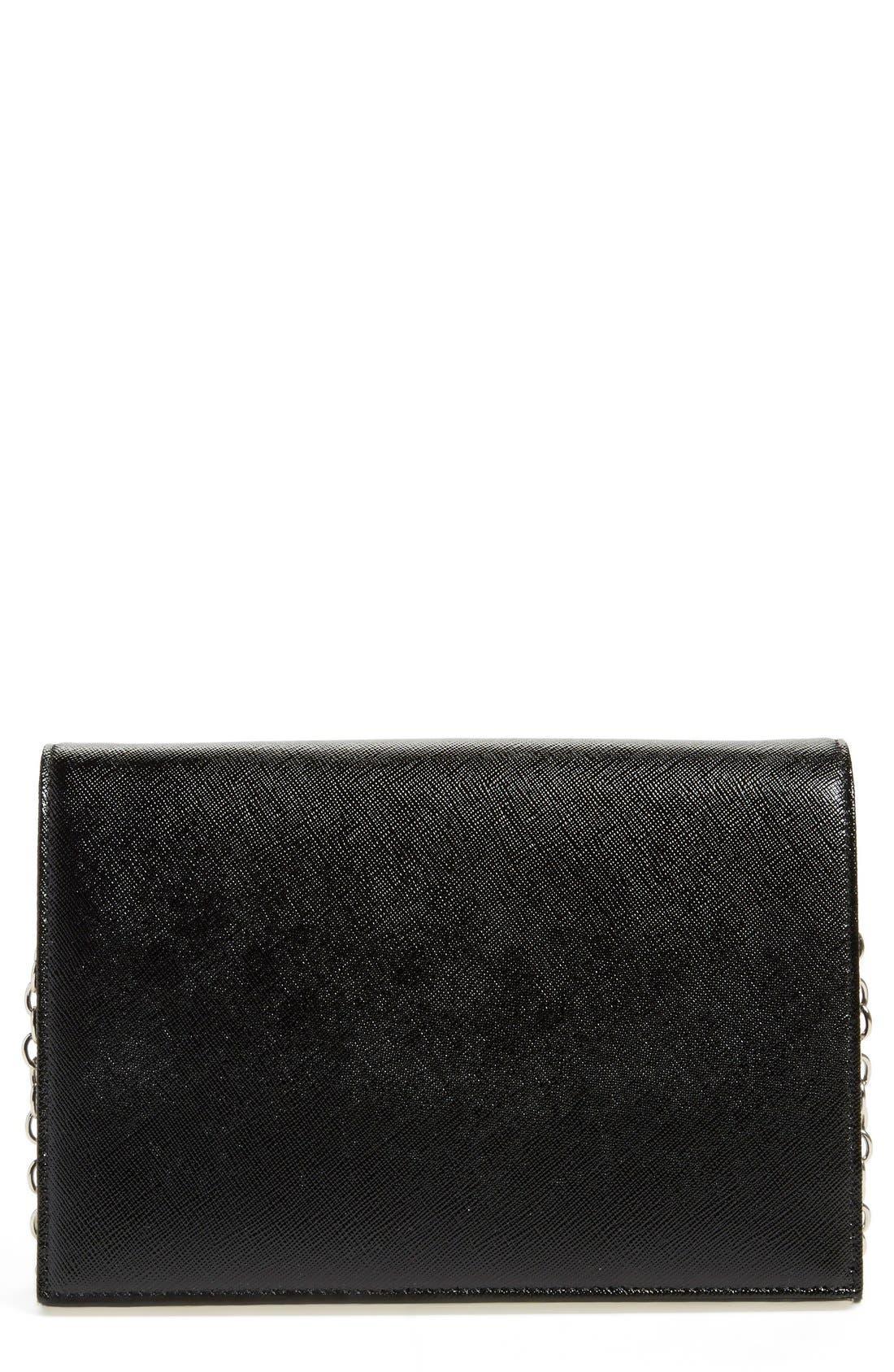 HALOGEN<SUP>®</SUP> 'Bar' Leather Crossbody Bag, Main, color, 001