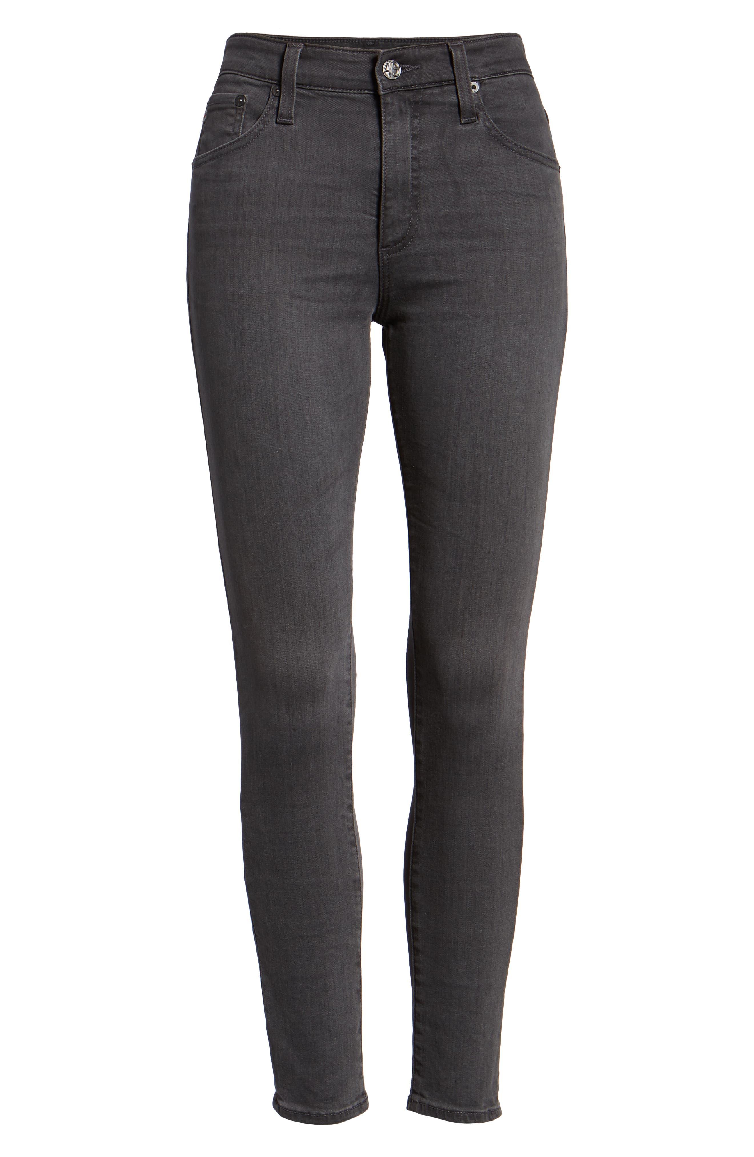 The Farrah High Waist Ankle Skinny Faux Leather Pants,                             Alternate thumbnail 19, color,