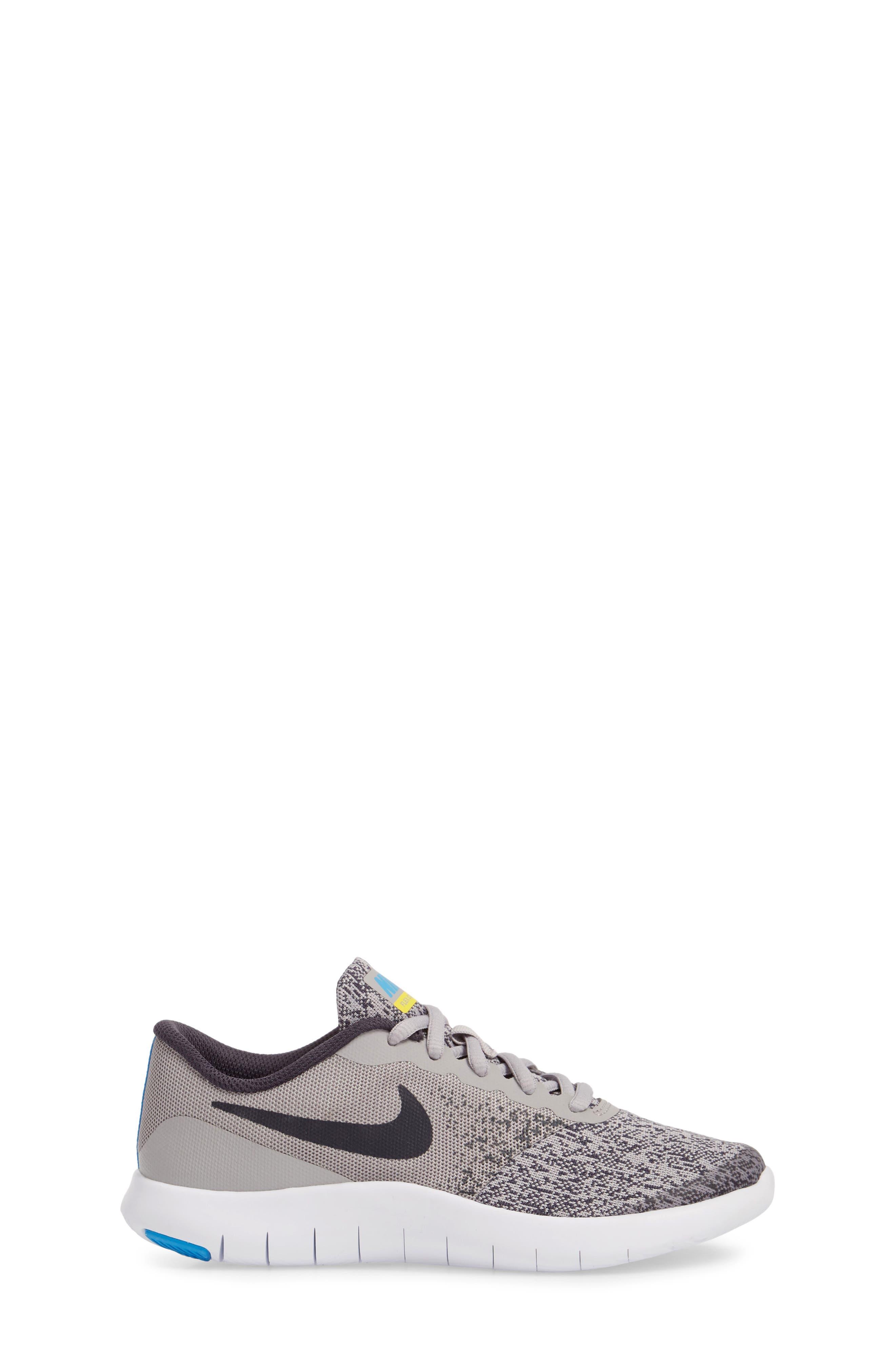 Flex Contact Running Shoe,                             Alternate thumbnail 3, color,                             ATMOSPHERE GREY/ LASER ORANGE