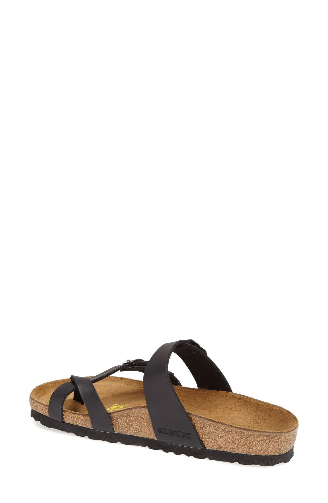 Mayari Birko-Flor Sandal,                             Alternate thumbnail 3, color,                             BLACK