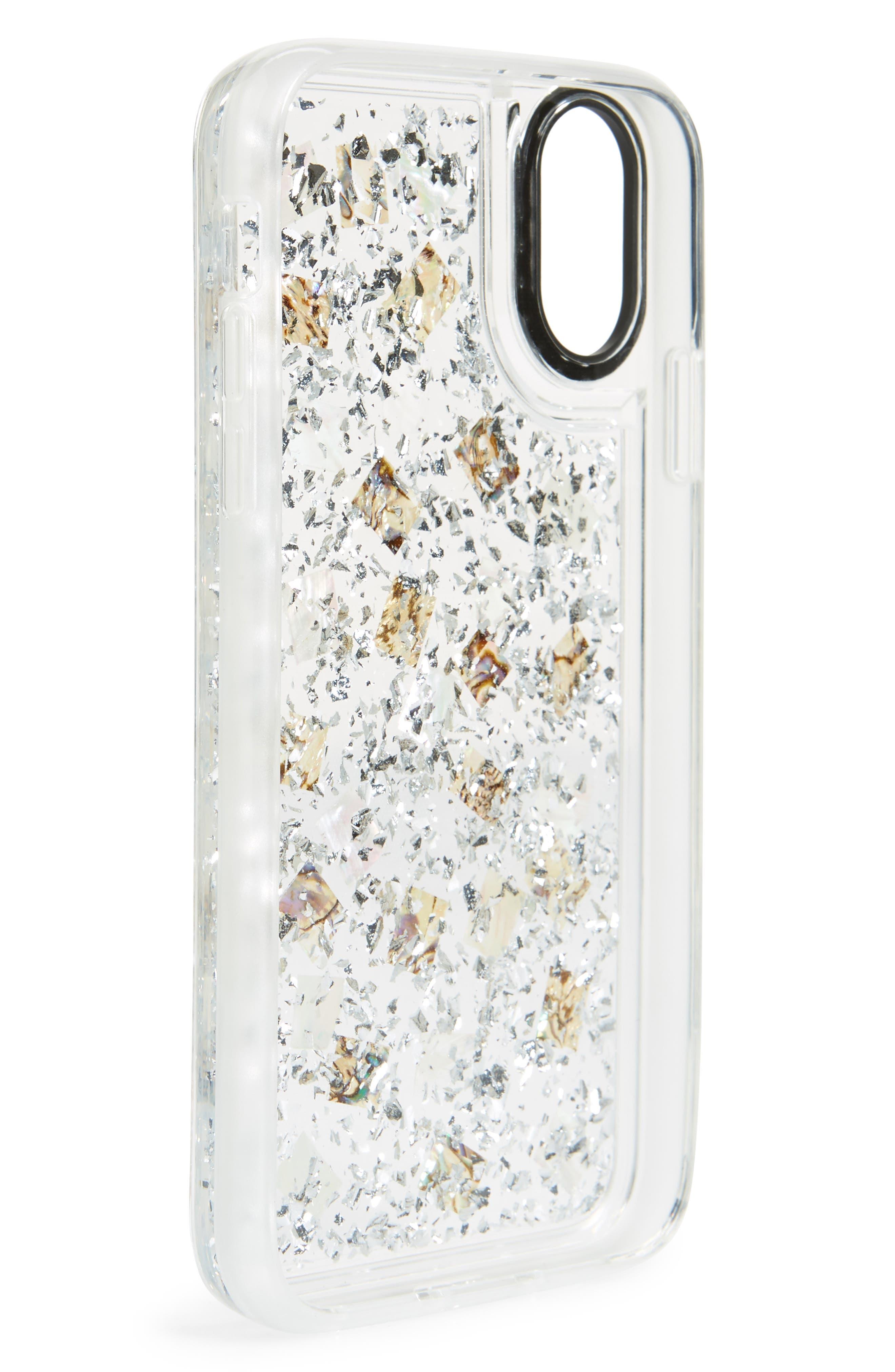24 Karat Magic iPhone X/Xs, XR & X Max Case,                             Alternate thumbnail 2, color,                             SILVER/ CLEAR