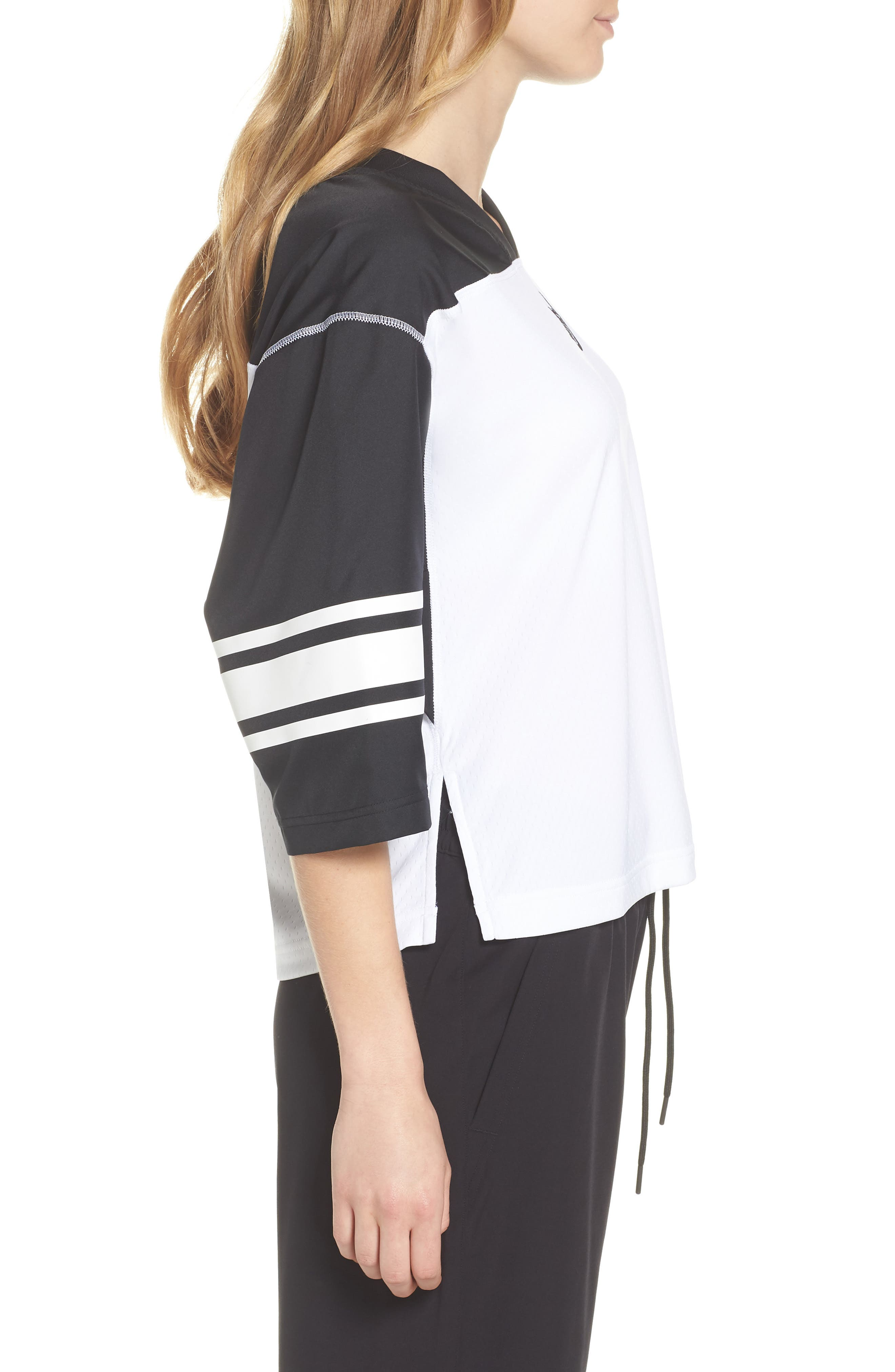 NikeLab Collection Football Top,                             Alternate thumbnail 3, color,                             BLACK/ WHITE/ BLACK
