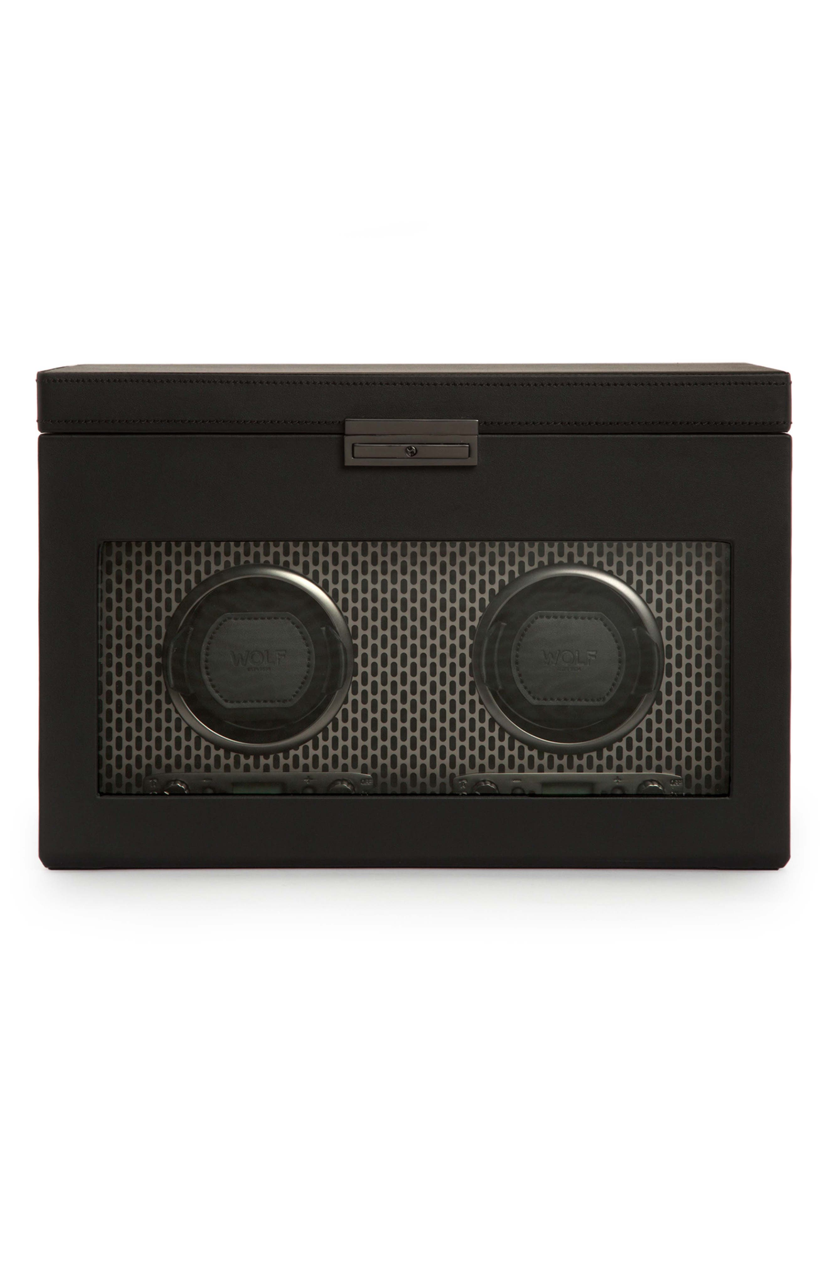 Axis Double Watch Winder & Case,                         Main,                         color, POWDER COAT