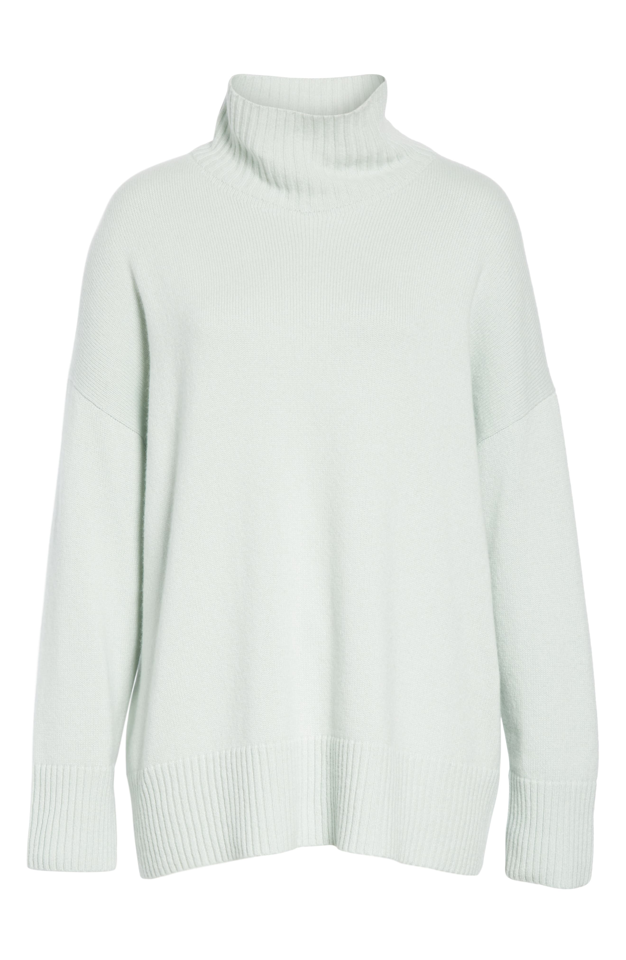 LAFAYETTE 148 NEW YORK,                             Relaxed Cashmere Turtleneck Sweater,                             Alternate thumbnail 6, color,                             400