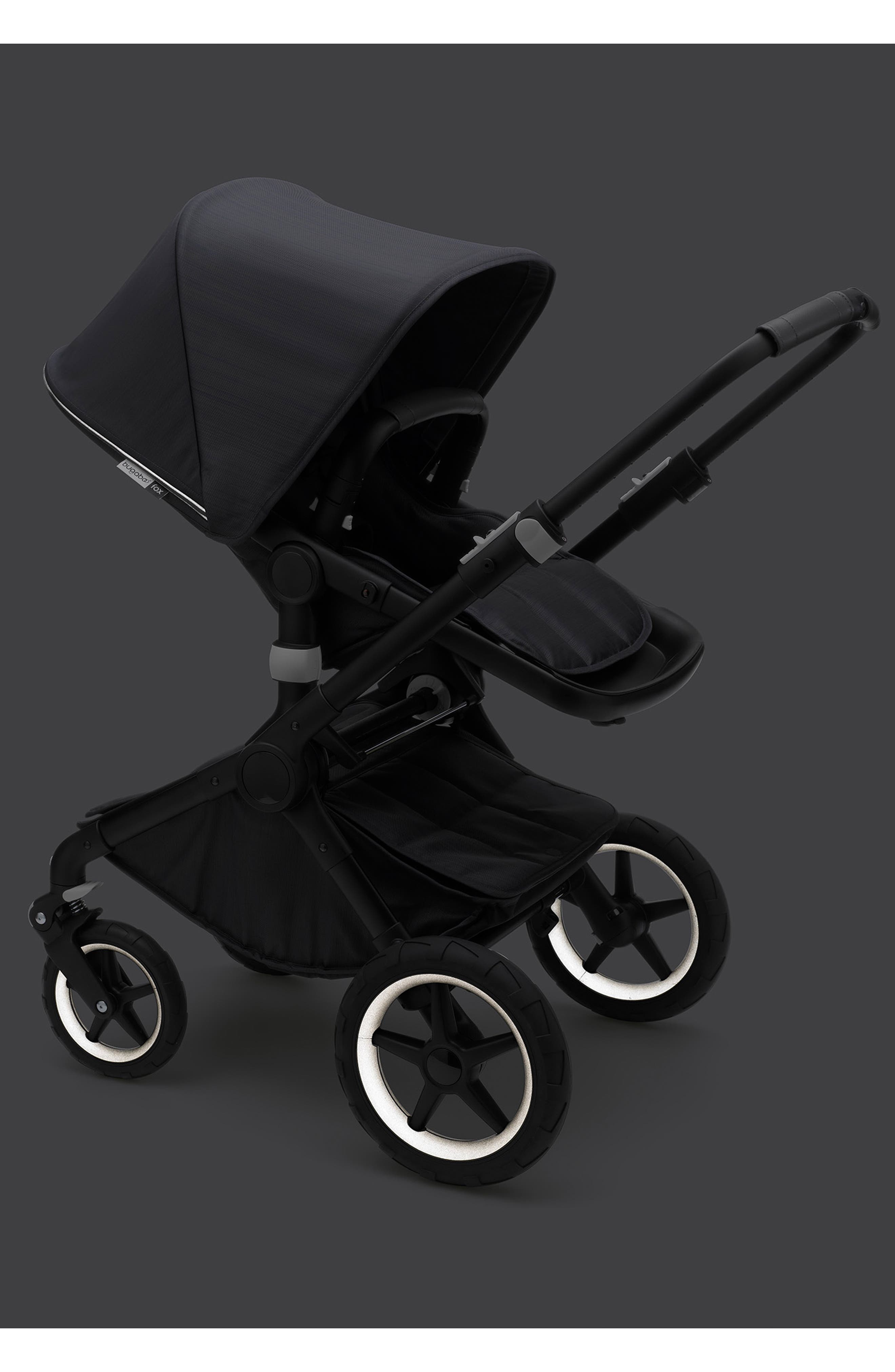 Fox Stellar Complete Reflective Stroller with Bassinet,                             Alternate thumbnail 4, color,                             MIDNIGHT BLUE