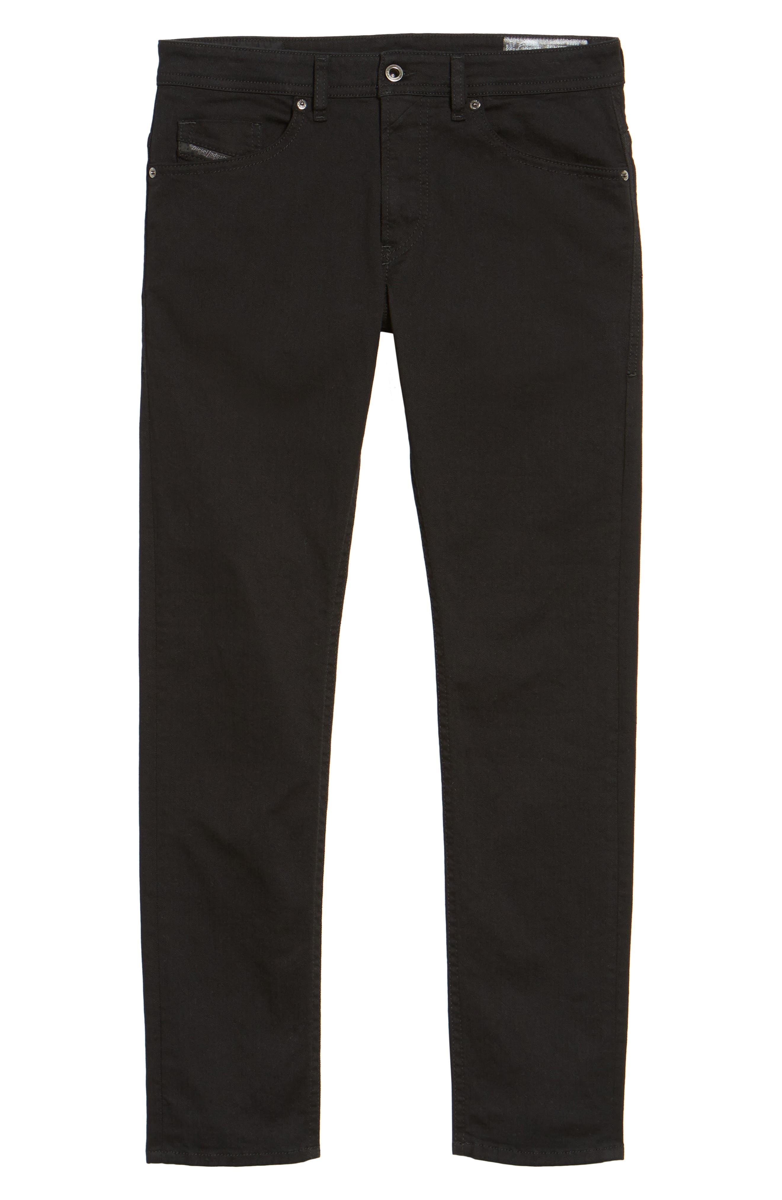 Thommer Slim Fit Jeans,                             Alternate thumbnail 6, color,                             BLACK/ DENIM