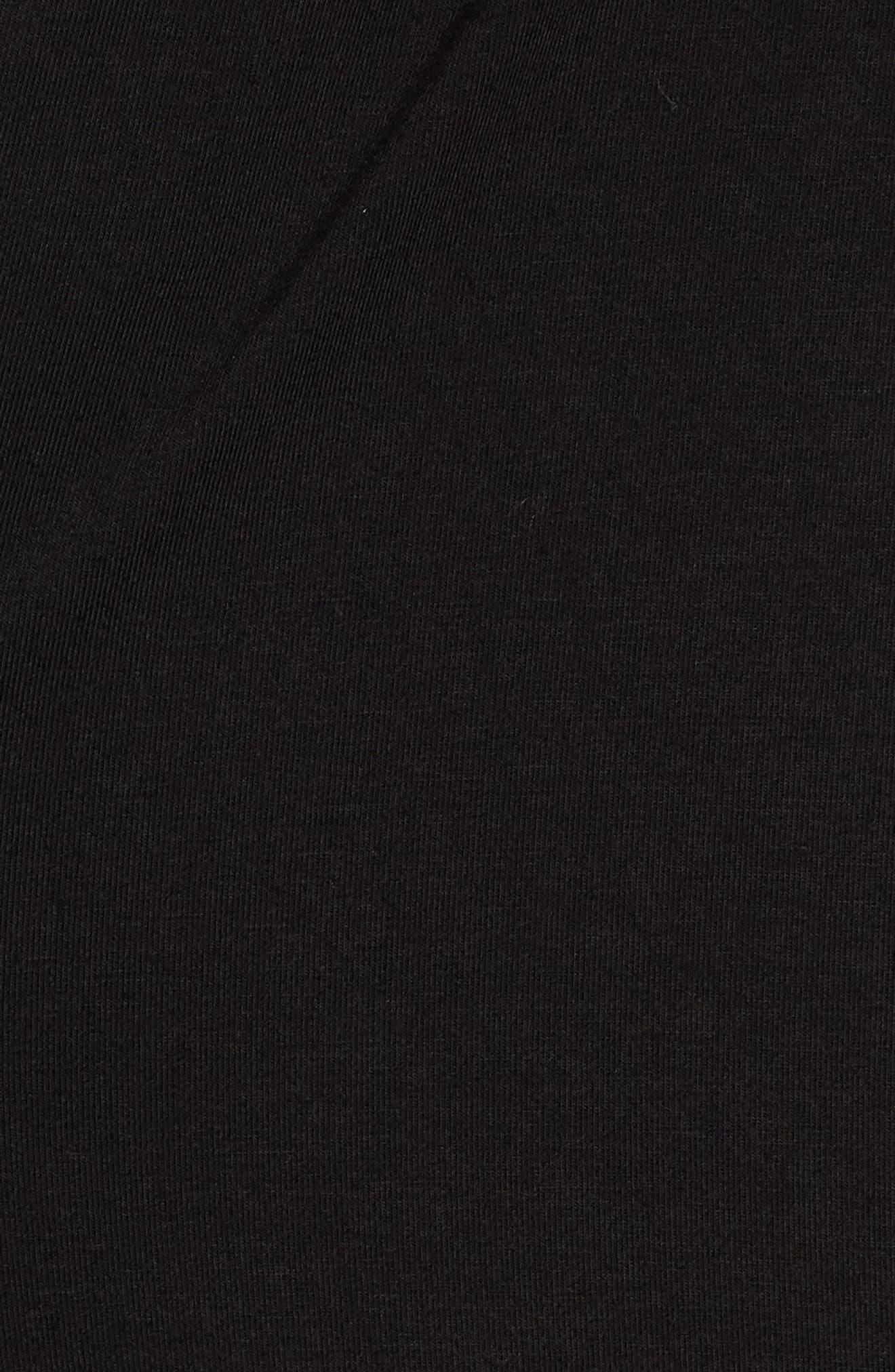 Knit Maxi Dress,                             Alternate thumbnail 5, color,                             001
