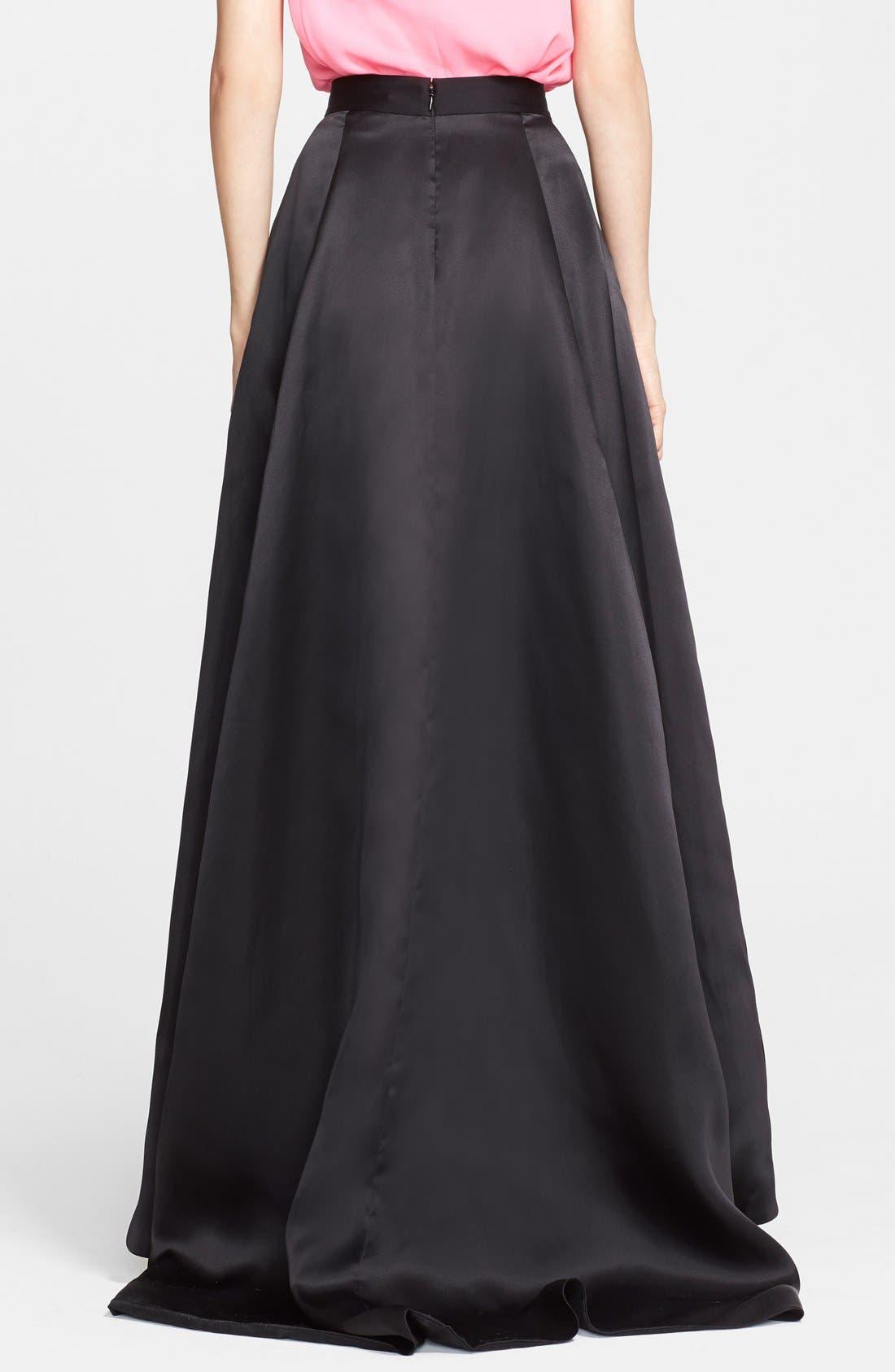ST. JOHN COLLECTION,                             Satin Face Silk Organza Ballgown Skirt,                             Alternate thumbnail 3, color,                             001
