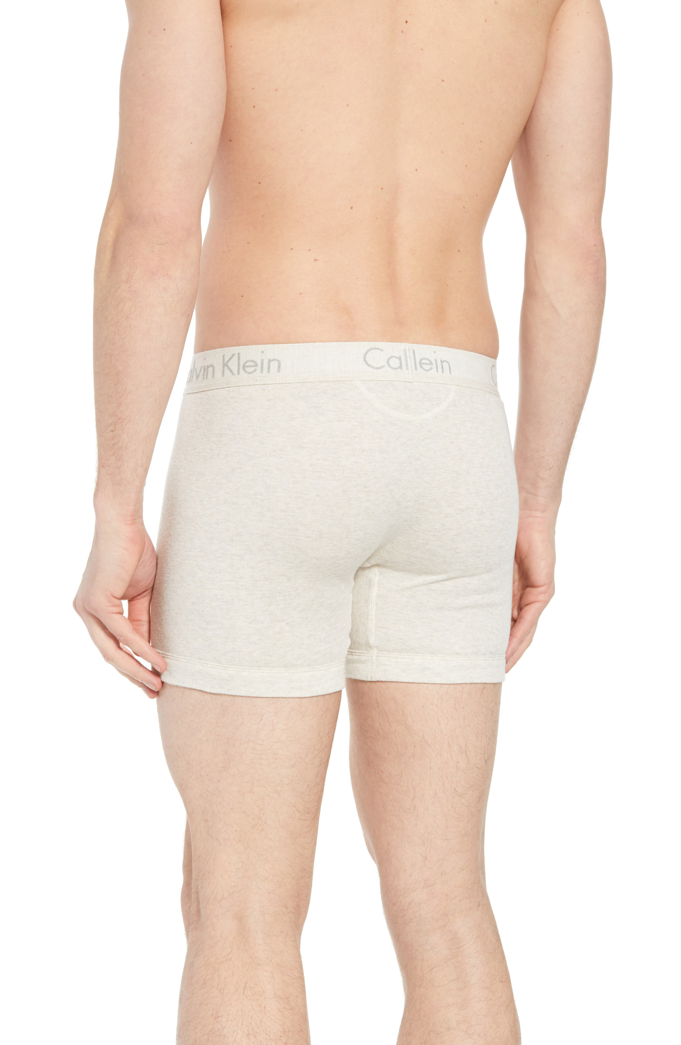 Cotton Boxer Briefs,                             Alternate thumbnail 2, color,                             OATMEAL HEATHER