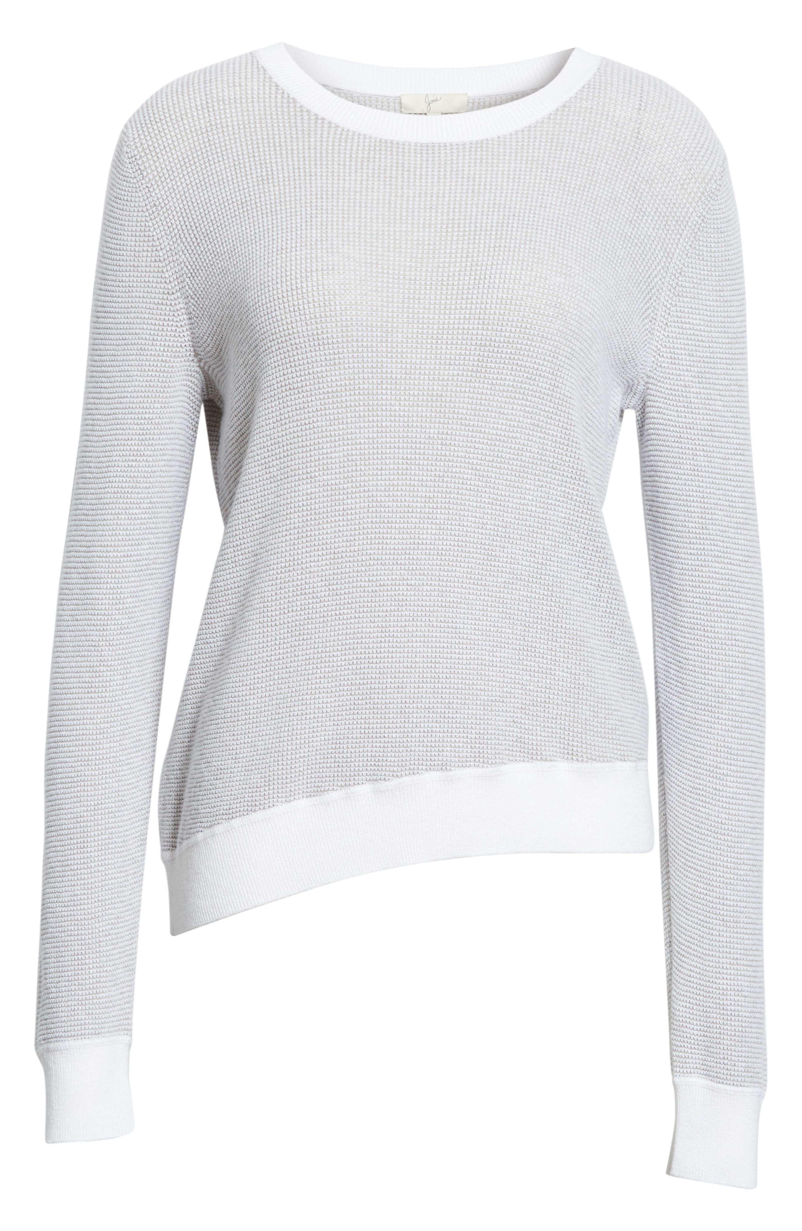 Laurana Cotton & Cashmere Sweater,                             Alternate thumbnail 6, color,