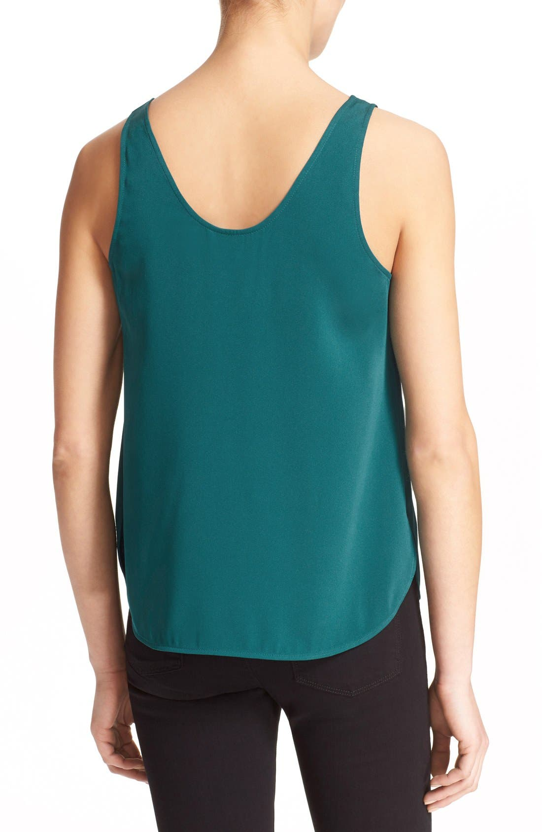 'The Scoop' Stretch Silk Tank,                             Alternate thumbnail 6, color,                             300