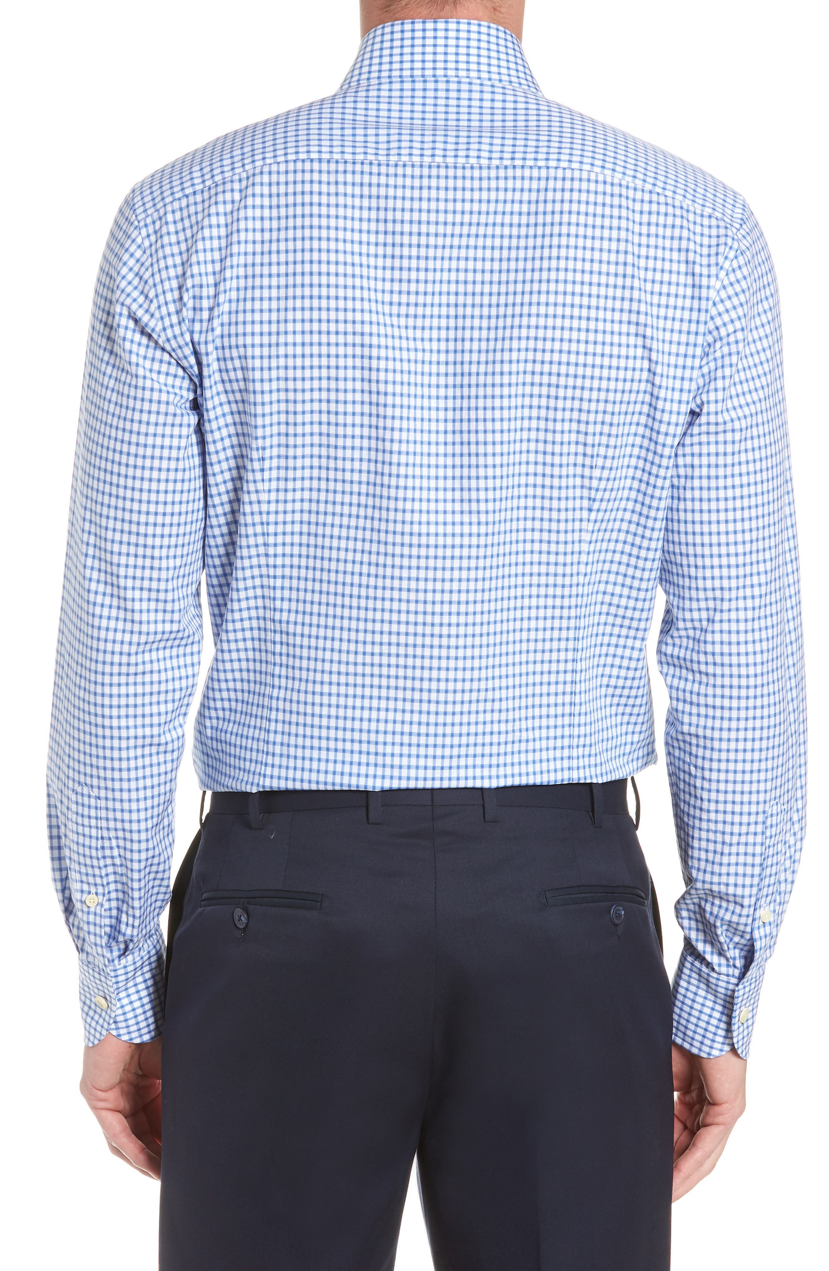 Garrison Slim Fit Check Dress Shirt,                             Alternate thumbnail 3, color,