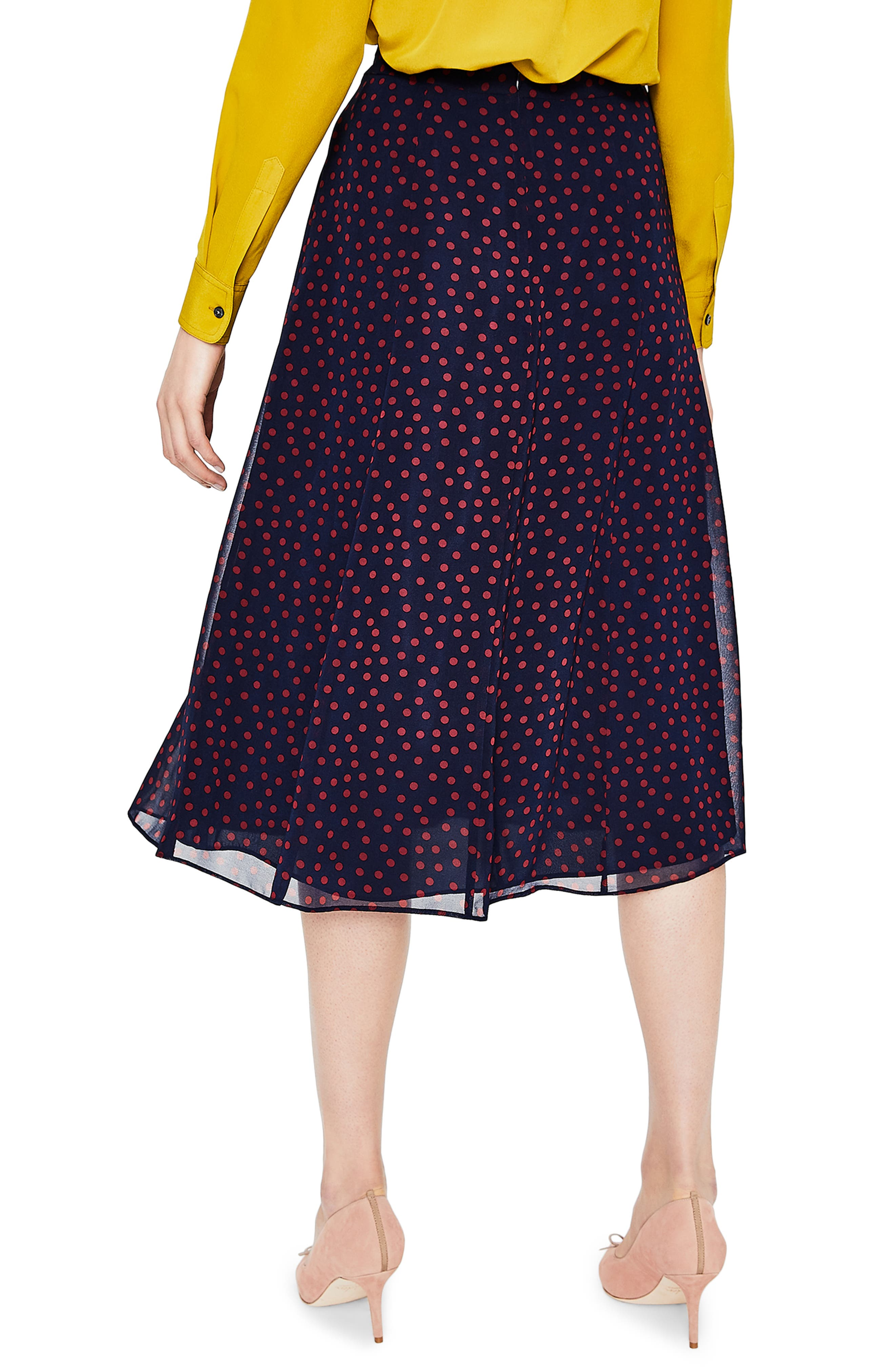 Polka Dot A-Line Skirt,                             Alternate thumbnail 2, color,                             934
