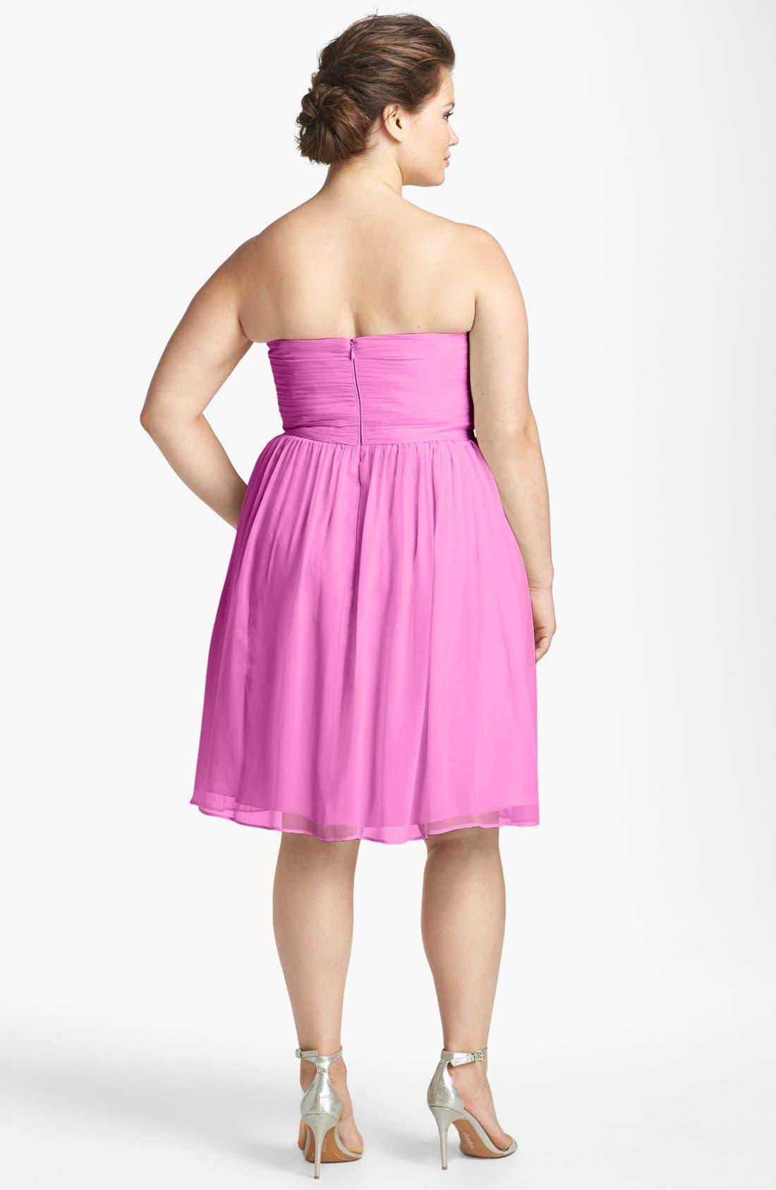 'Morgan' Strapless Silk Chiffon Dress,                             Alternate thumbnail 91, color,