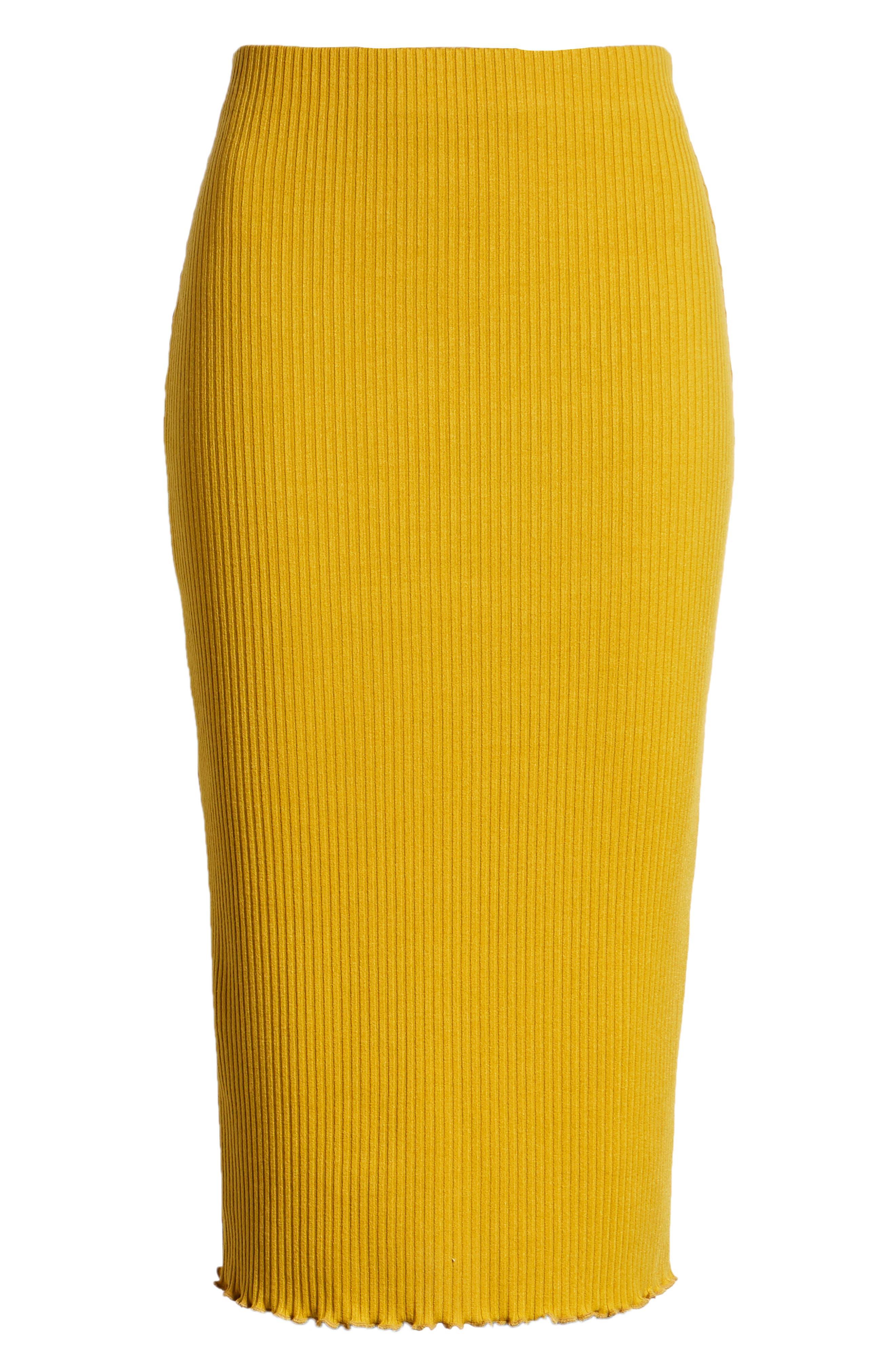 Rib Knit Pencil Skirt,                             Alternate thumbnail 6, color,