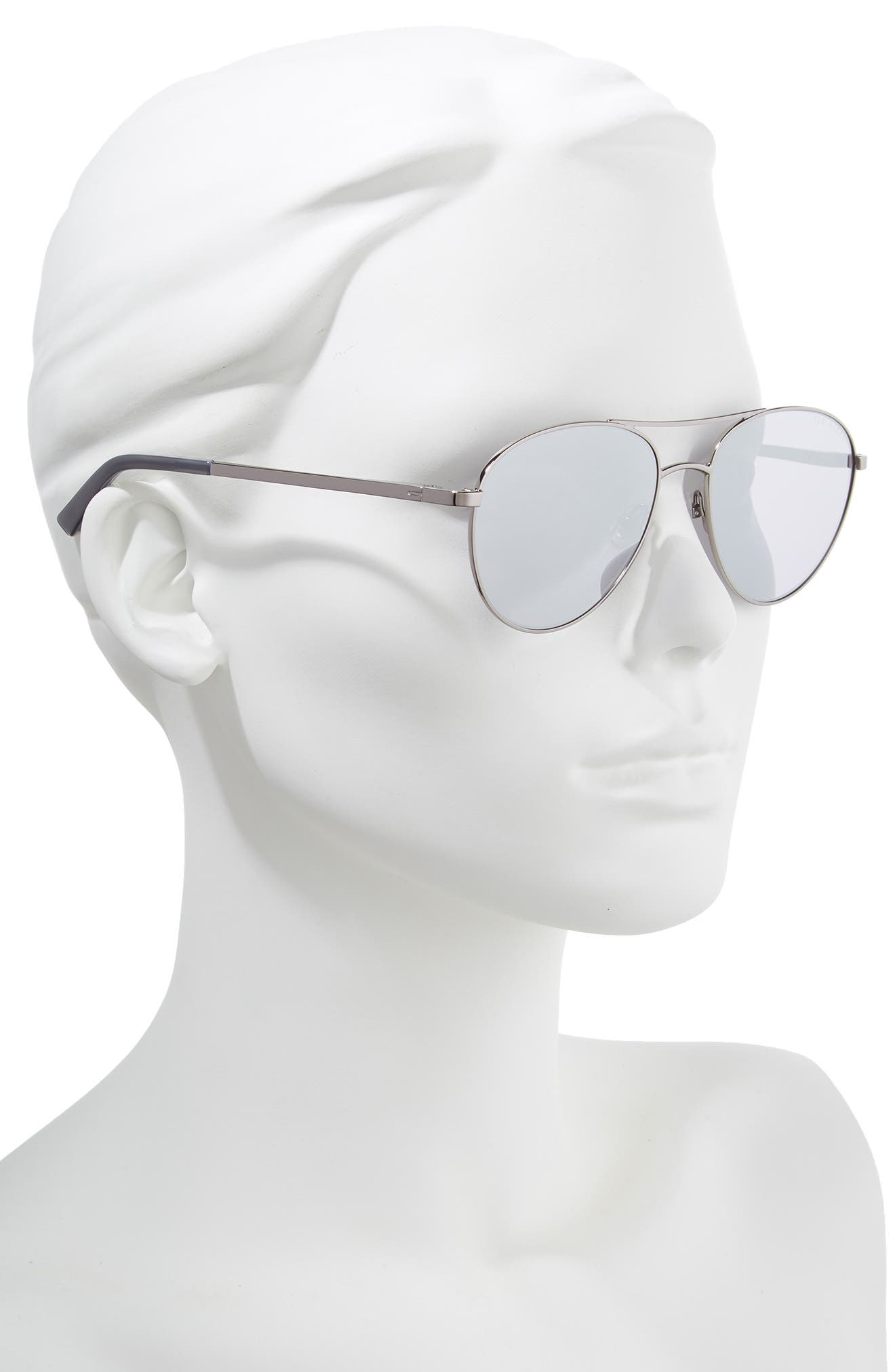 TED BAKER LONDON,                             55mm Aviator Sunglasses,                             Alternate thumbnail 2, color,                             SILVER