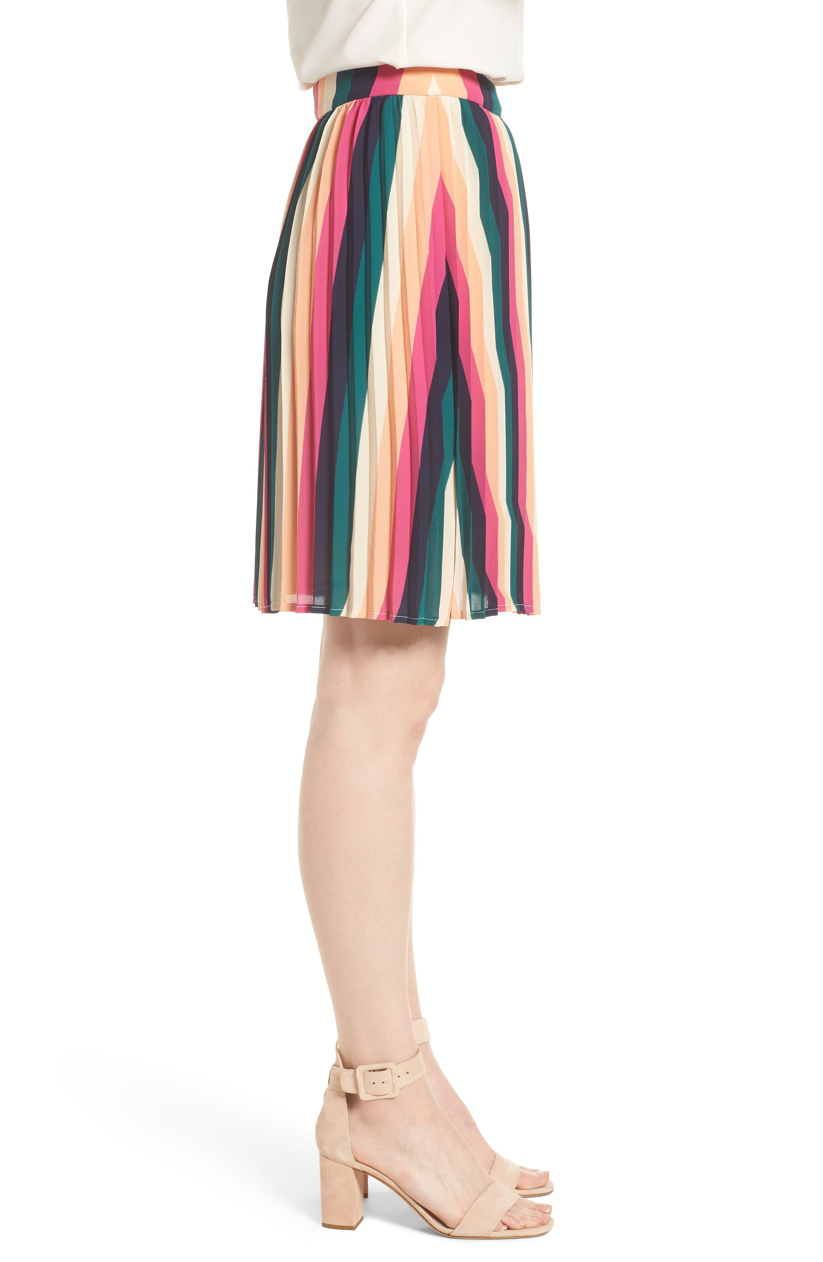 x Hi Sugarplum! Navio Pleat Skirt,                             Alternate thumbnail 3, color,                             007