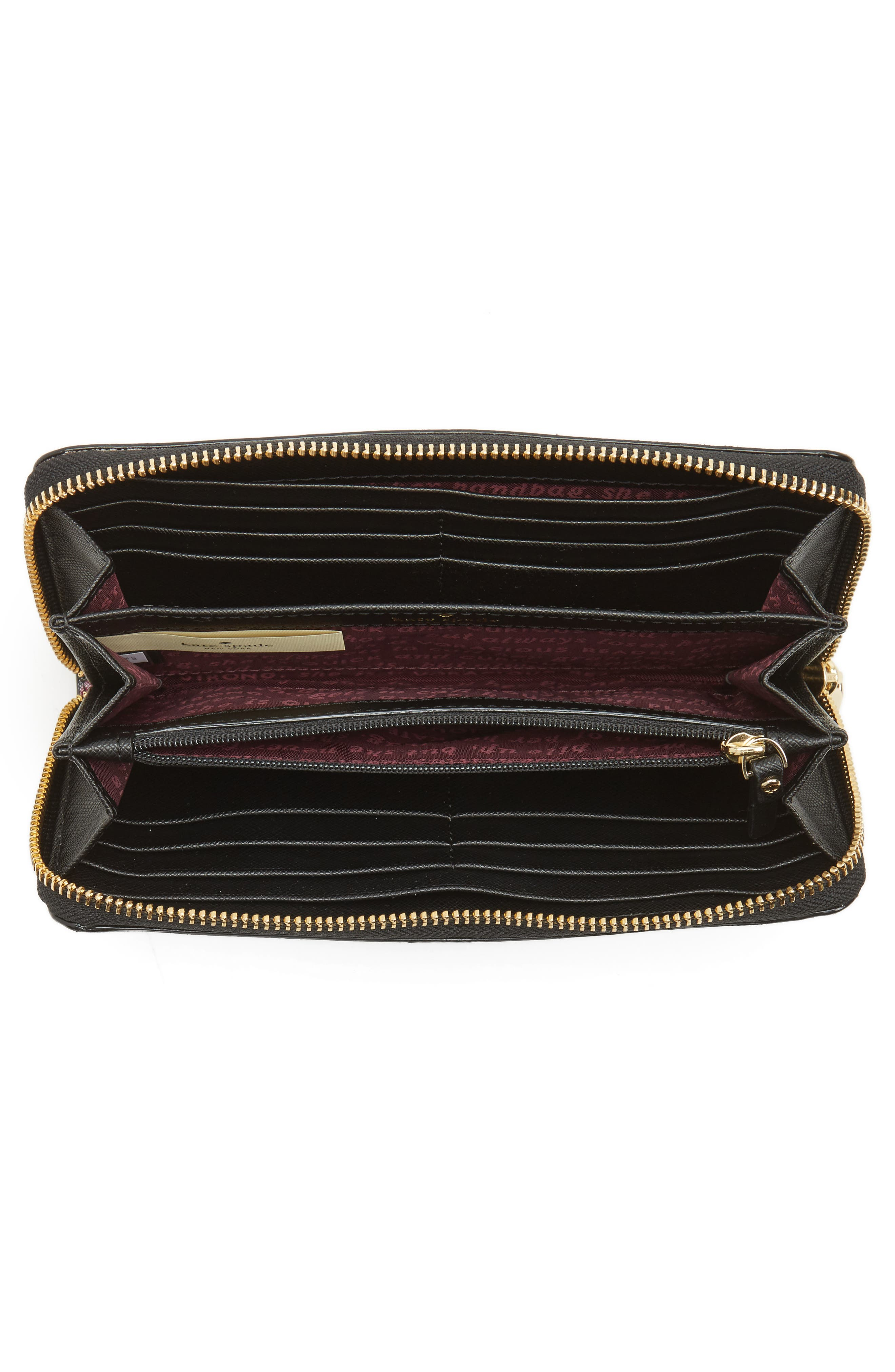 cameron street - lacey zip around wallet,                             Alternate thumbnail 2, color,                             001